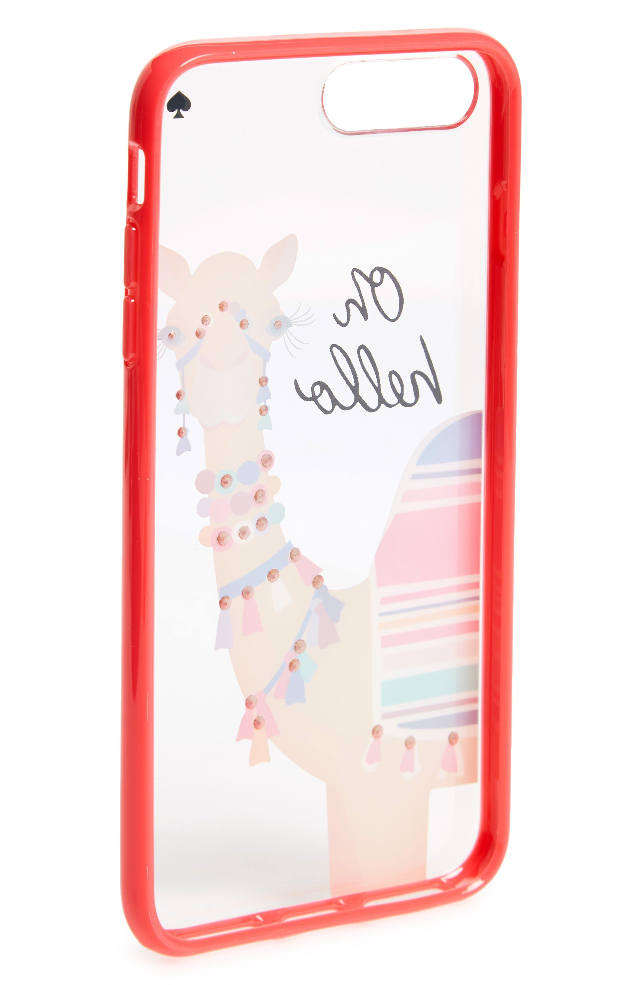 jeweled camel transparent iPhone 7/8 & 7/8 Plus case,                             Alternate thumbnail 2, color,                             Multi