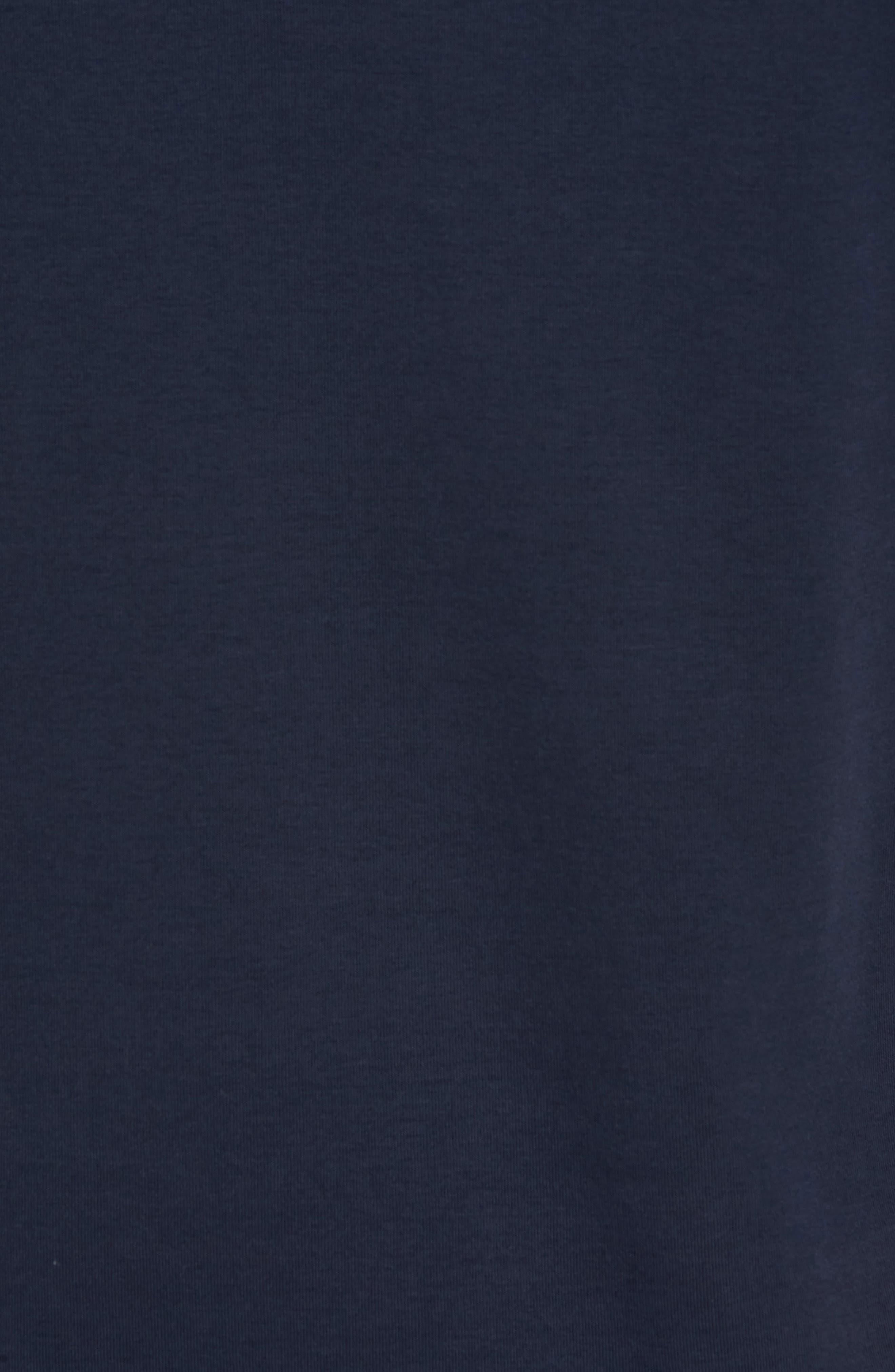 Regular Fit Quarter Zip Pullover,                             Alternate thumbnail 5, color,                             Navy