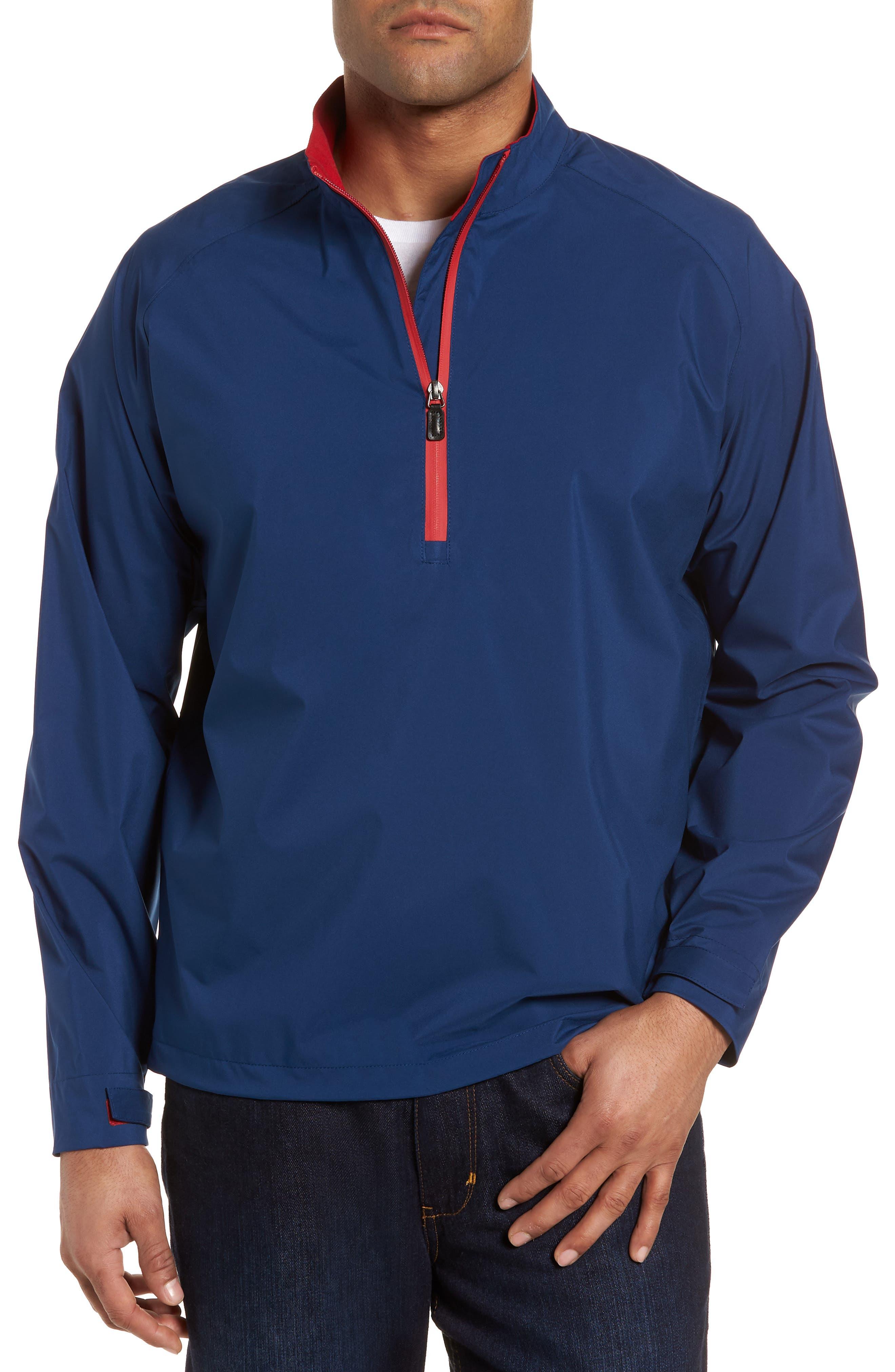 Regular Fit Half Zip Performance Pullover,                         Main,                         color, Navy