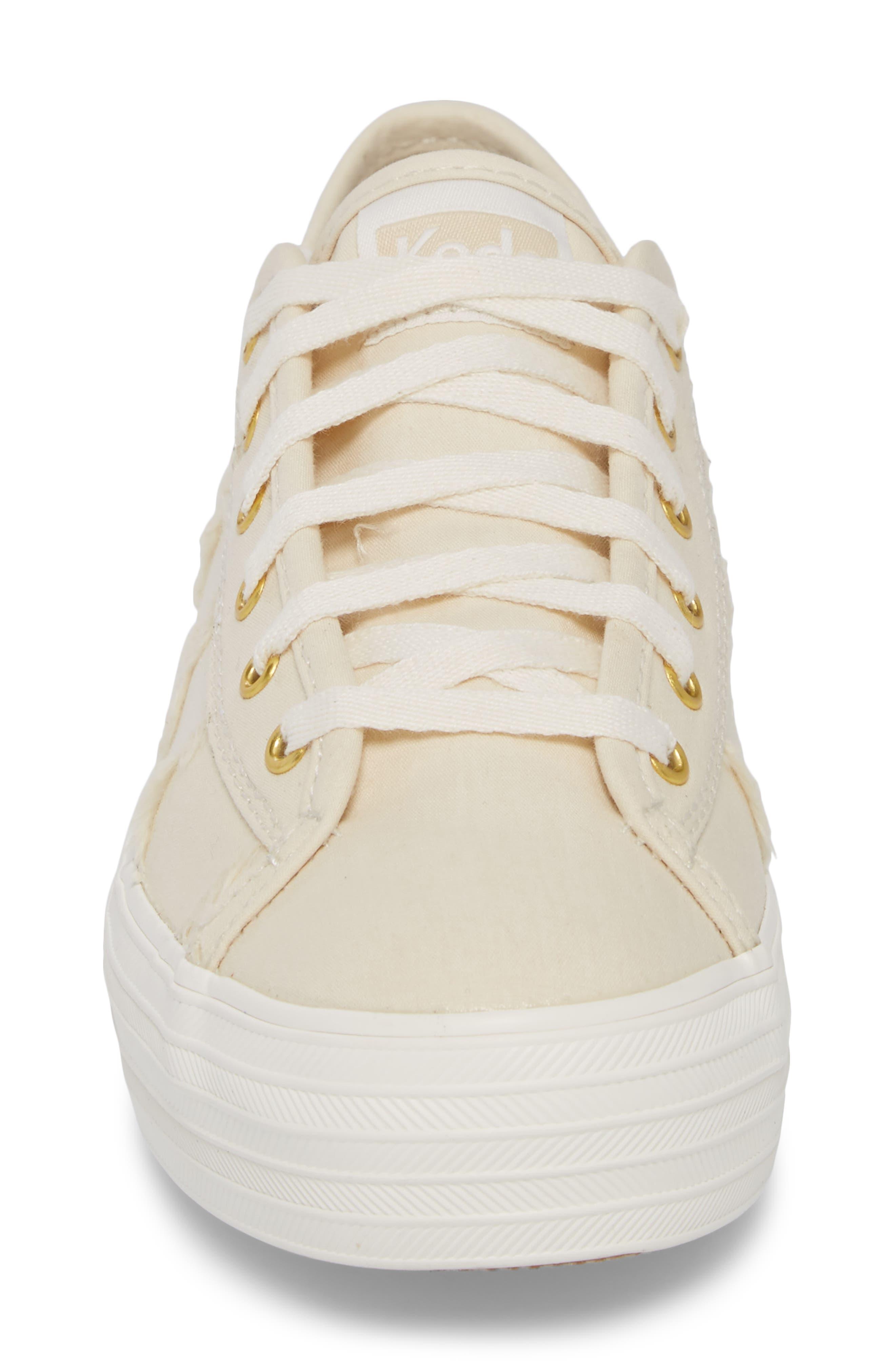 Triple Kick Canvas Sneaker,                             Alternate thumbnail 4, color,                             Cream