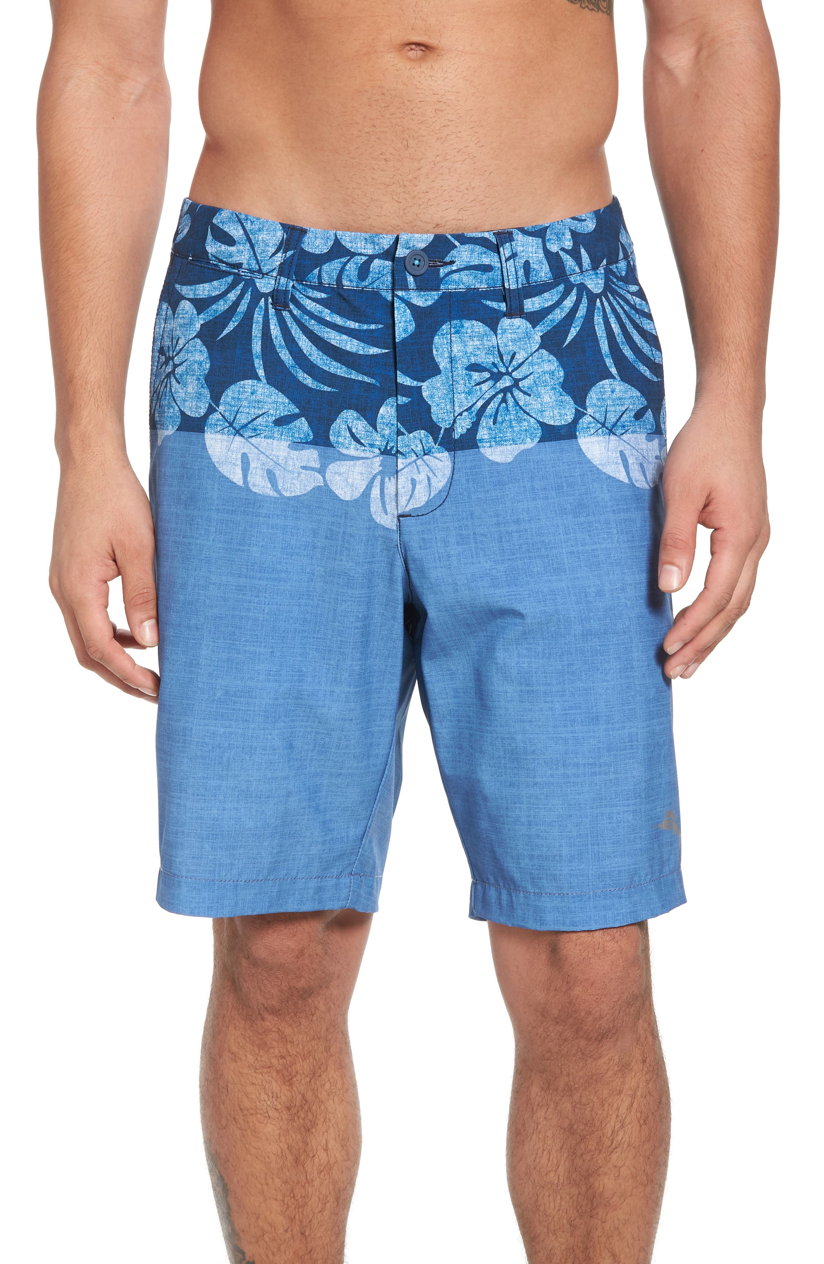 Cayman Waterline Hybrid Shorts,                             Main thumbnail 1, color,                             Dockside Blue