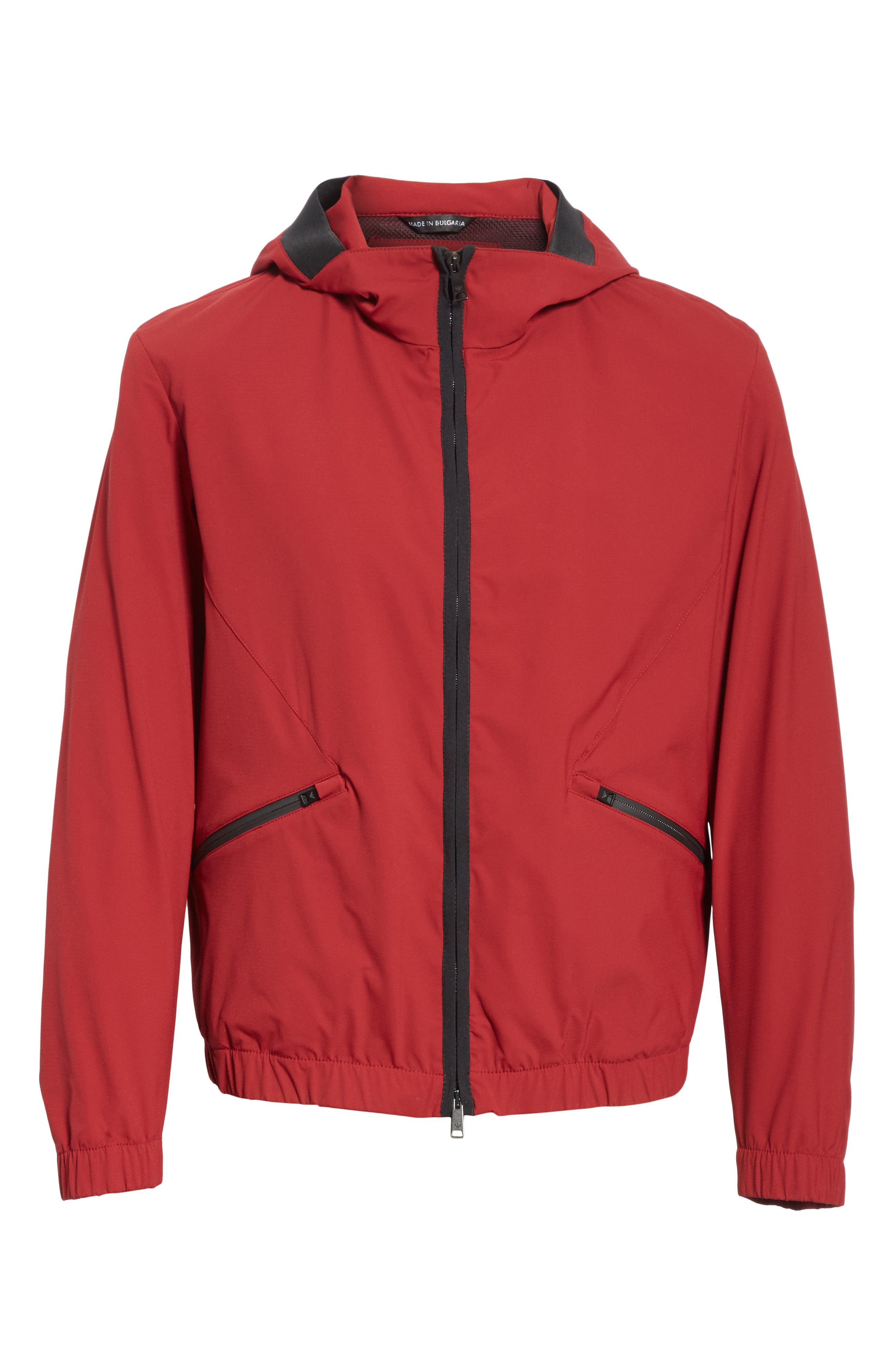 Water Repellent Jacket,                             Alternate thumbnail 6, color,                             Red