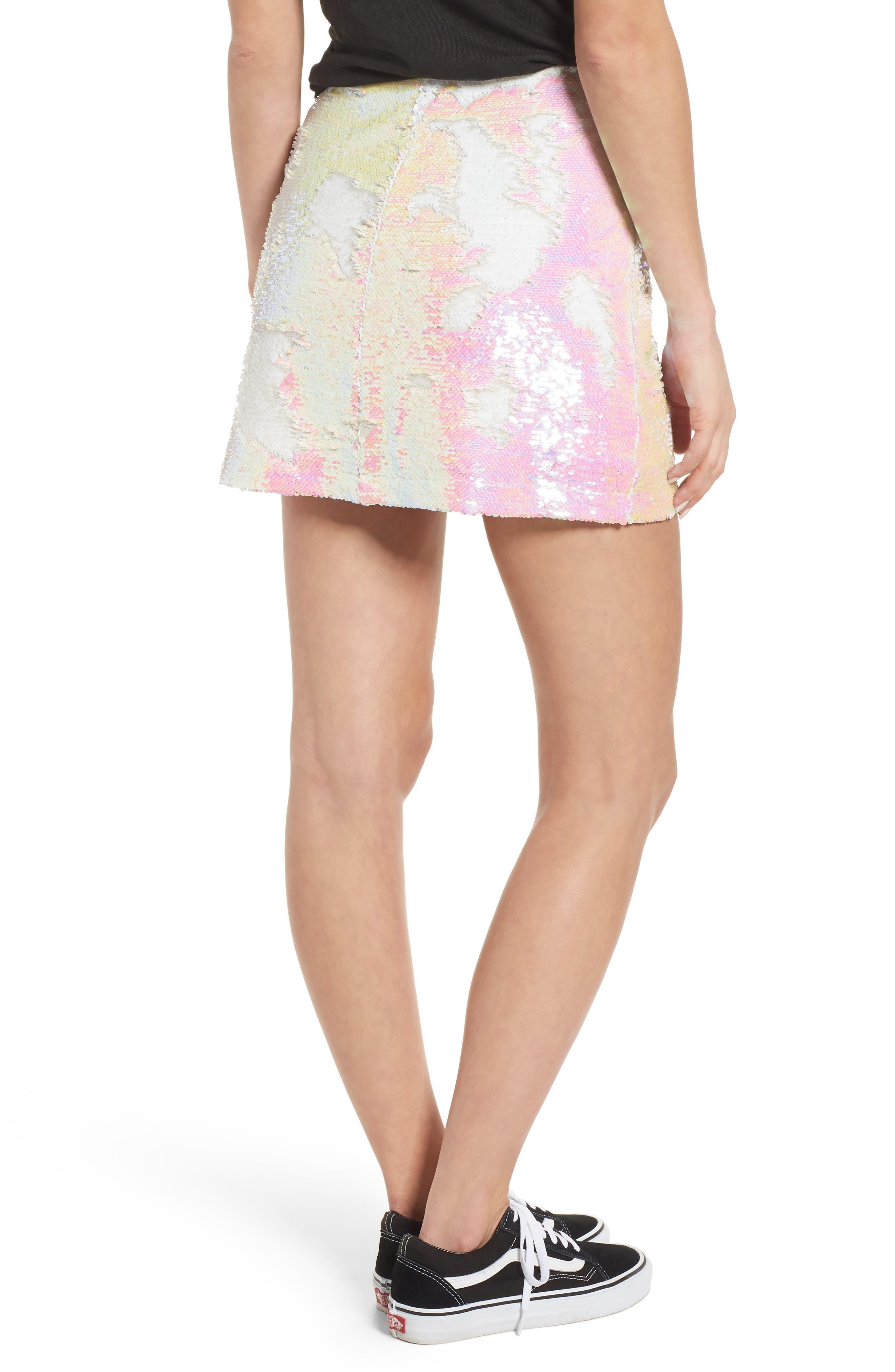 Kool Thing Sequin Skirt,                             Alternate thumbnail 2, color,                             Pink Multi