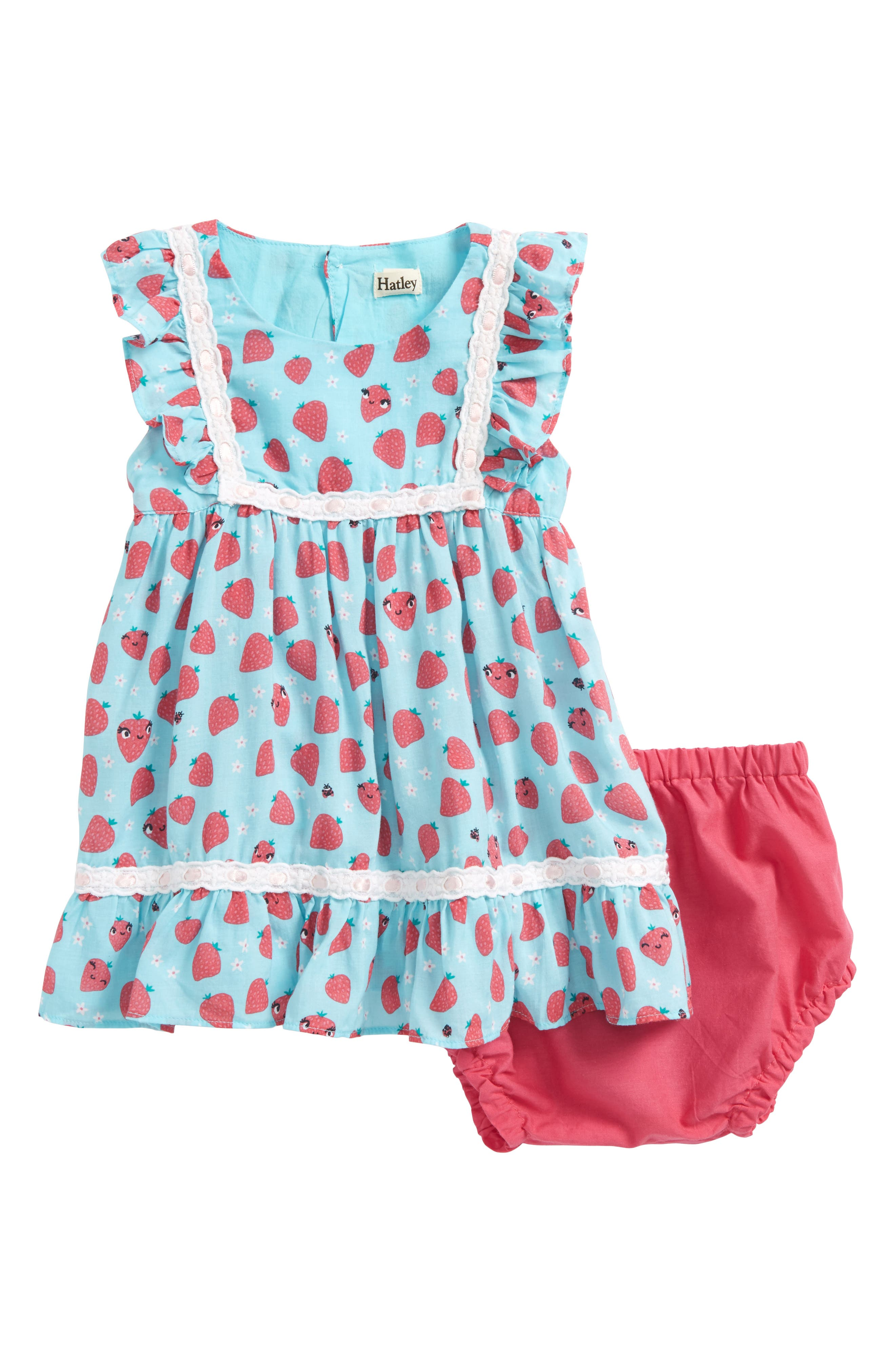 Strawberry Birthday Dress,                             Main thumbnail 1, color,                             Strawberry Fields