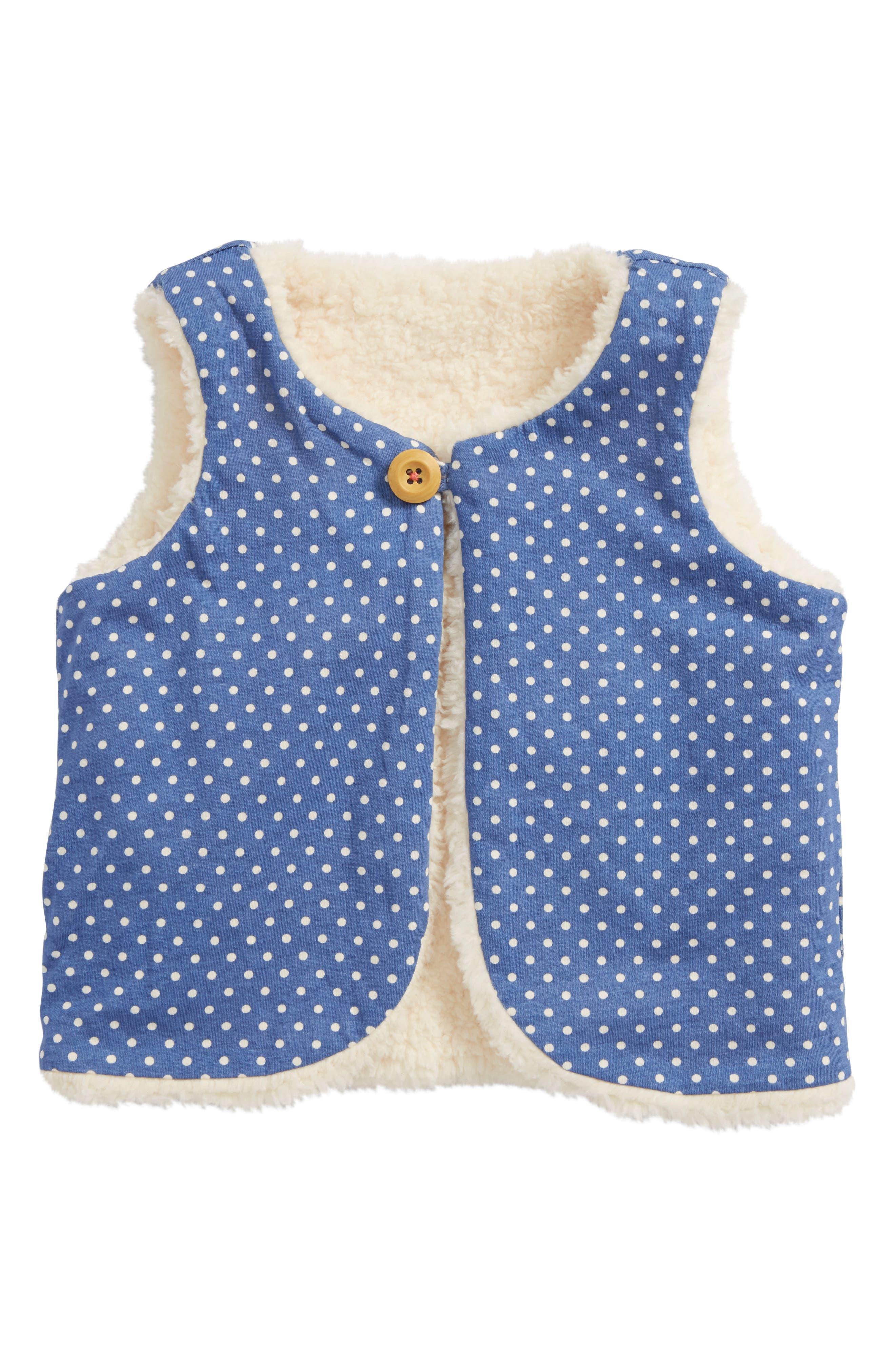 Fuzzy Reversible Vest,                             Alternate thumbnail 2, color,                             Ecru