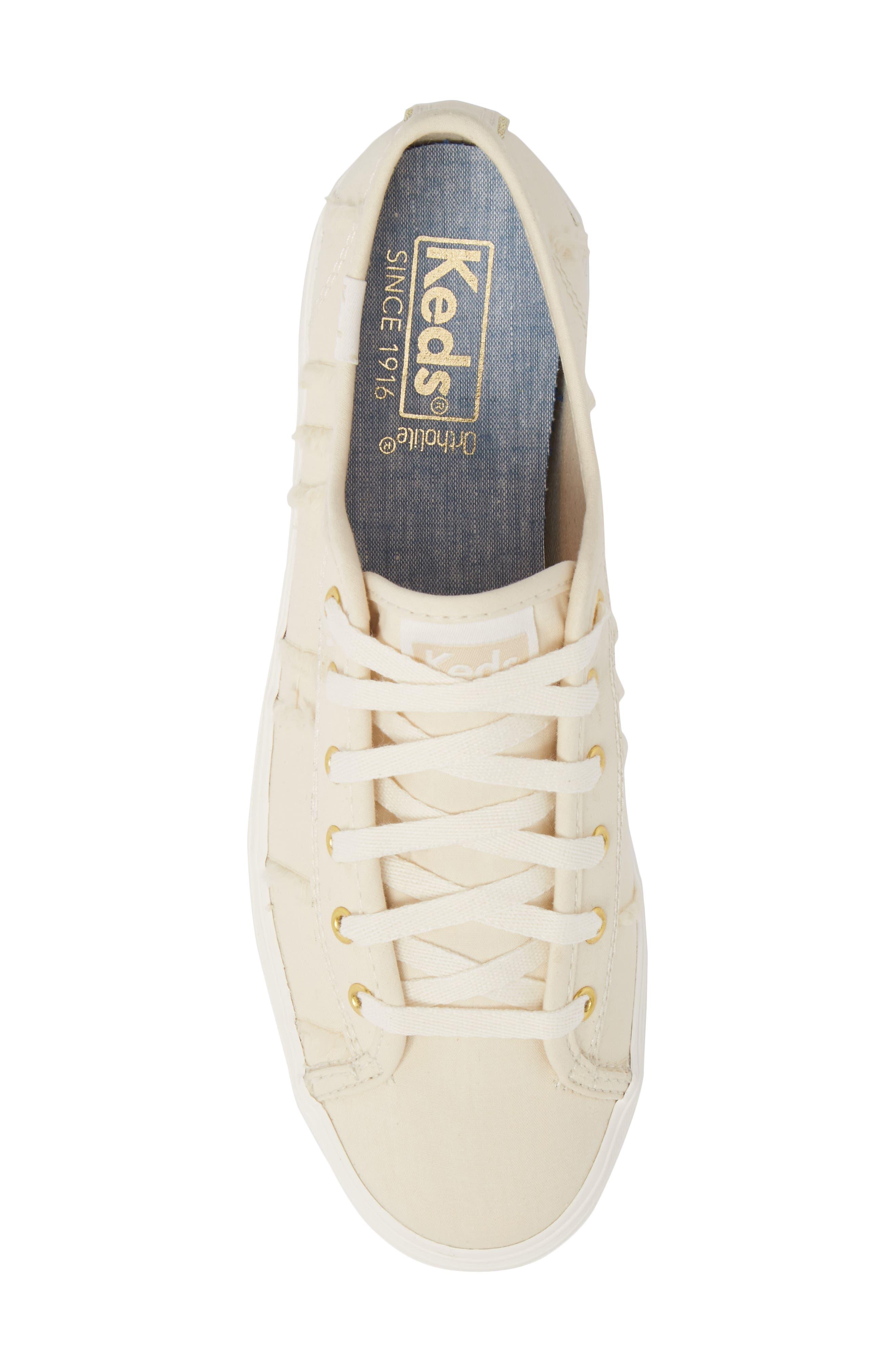 Triple Kick Canvas Sneaker,                             Alternate thumbnail 5, color,                             Cream