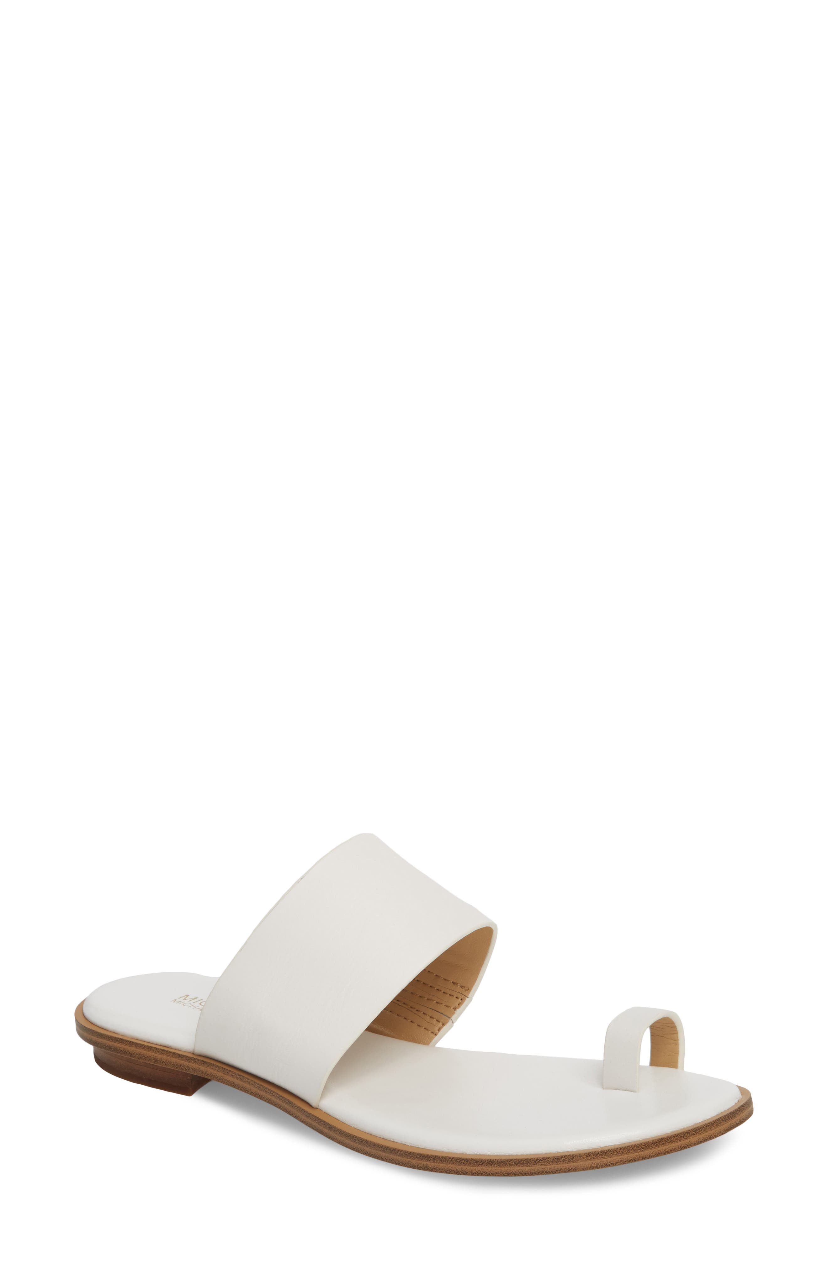 Sonya Sandal,                         Main,                         color, Optic White Leather
