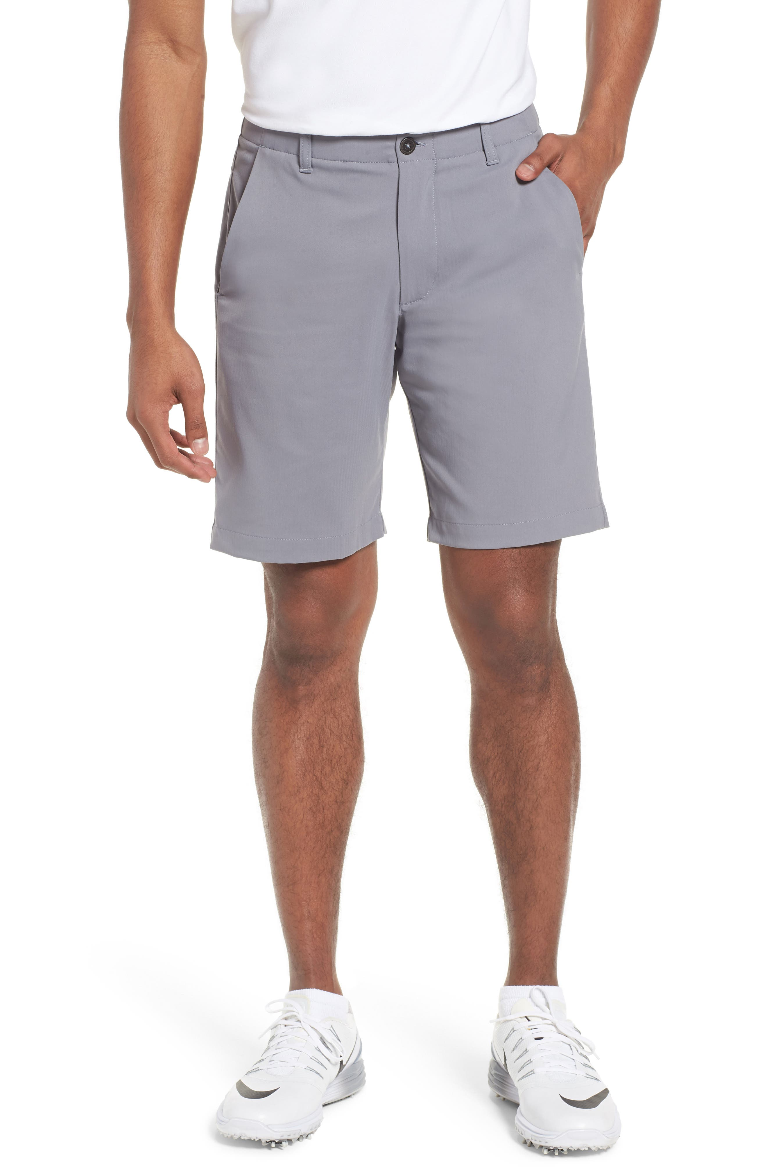 Takeover Regular Fit Golf Shorts,                         Main,                         color, Zinc Grey