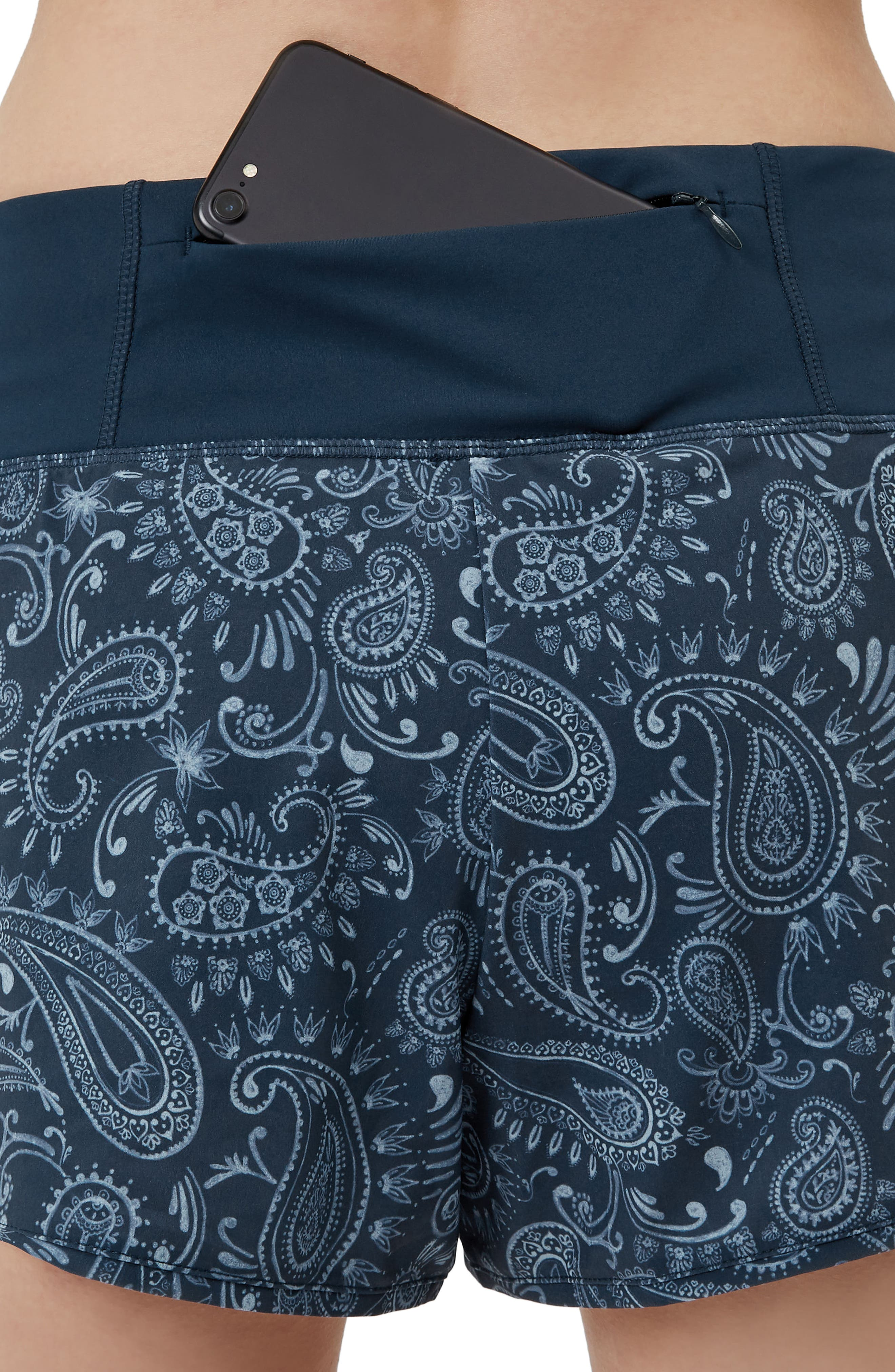 Time Trail Running Shorts,                             Alternate thumbnail 6, color,                             Painted Paisley Print