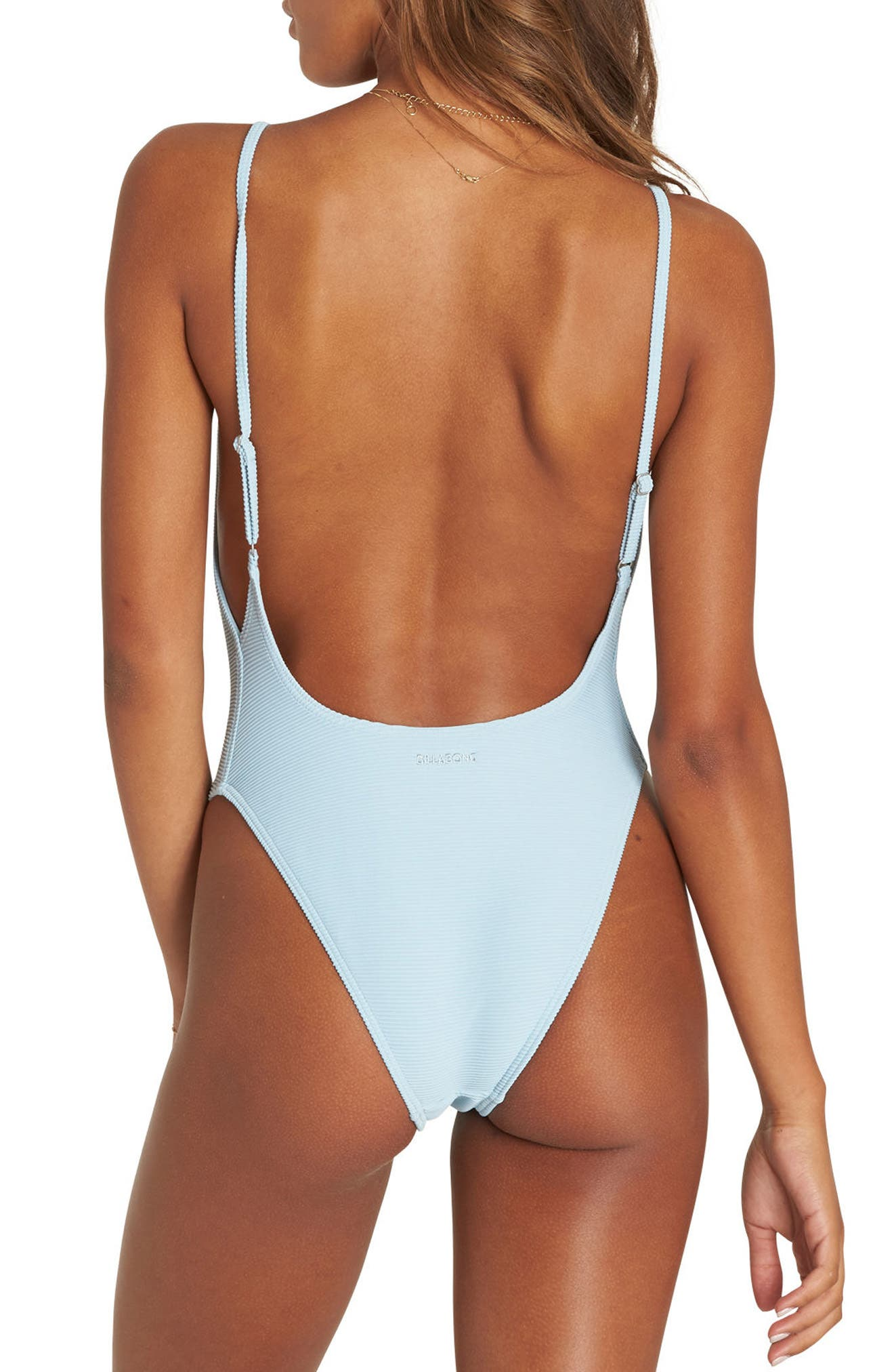 Tanlines One-Piece Swimsuit,                             Alternate thumbnail 2, color,                             Cool Water