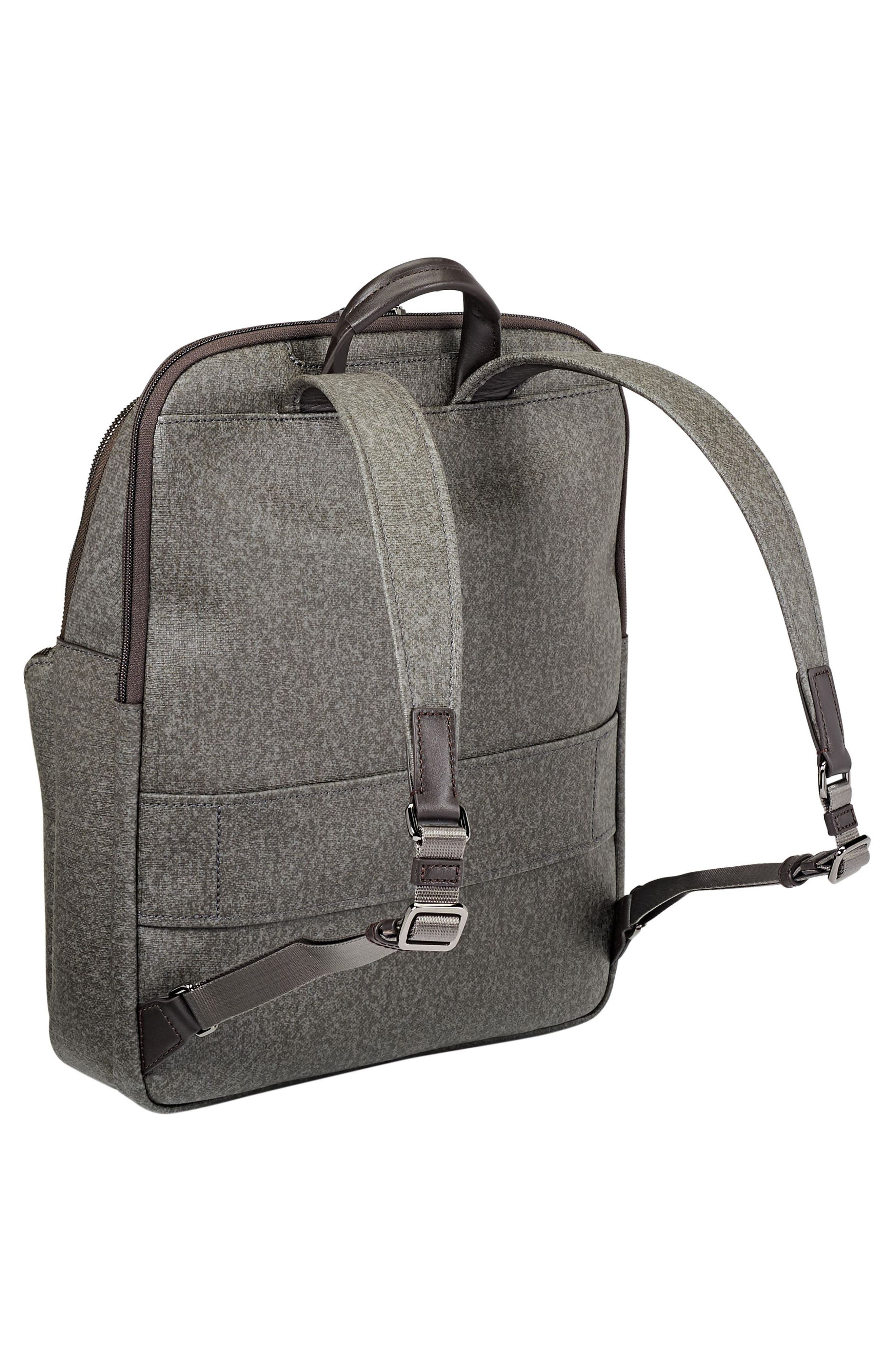 Stanton – Hettie Coated Canvas Backpack,                             Alternate thumbnail 3, color,                             Earl Grey