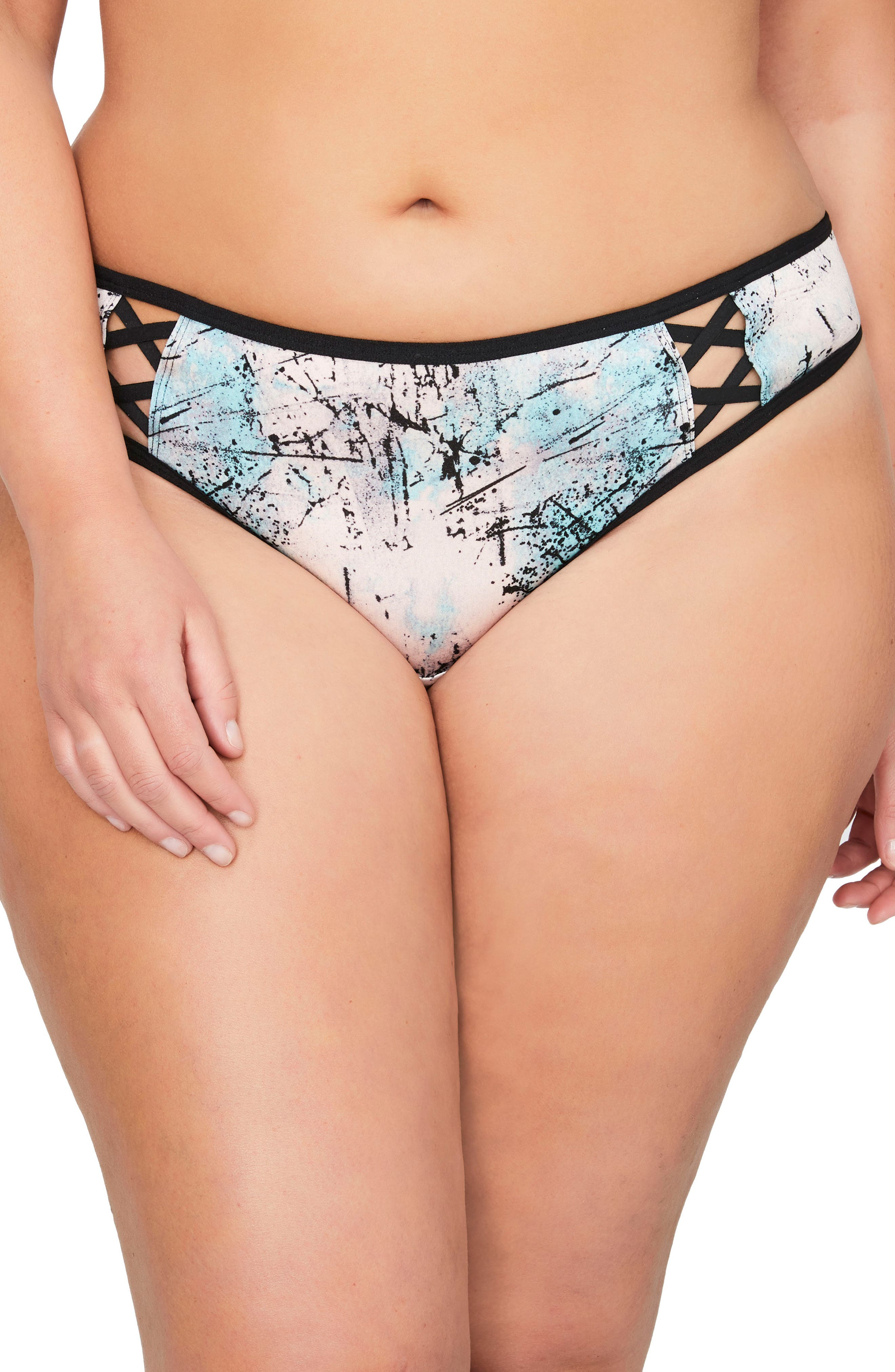 Undressed Thong,                             Main thumbnail 1, color,                             Veiled Rose Marble