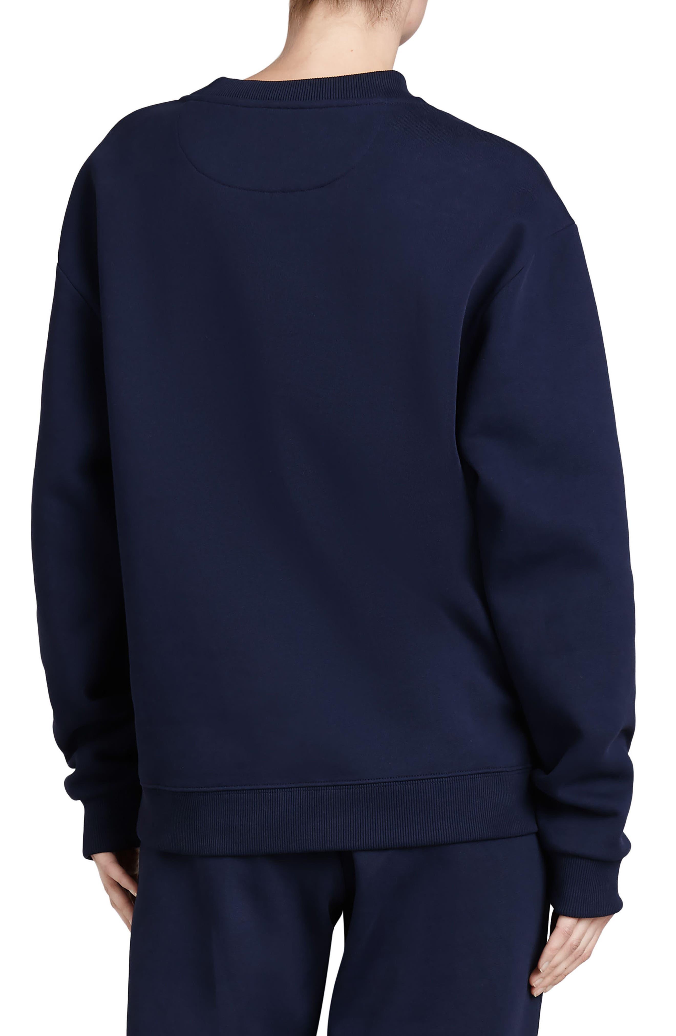 Vintage Crest Sweatshirt,                             Alternate thumbnail 2, color,                             Midnight Blue