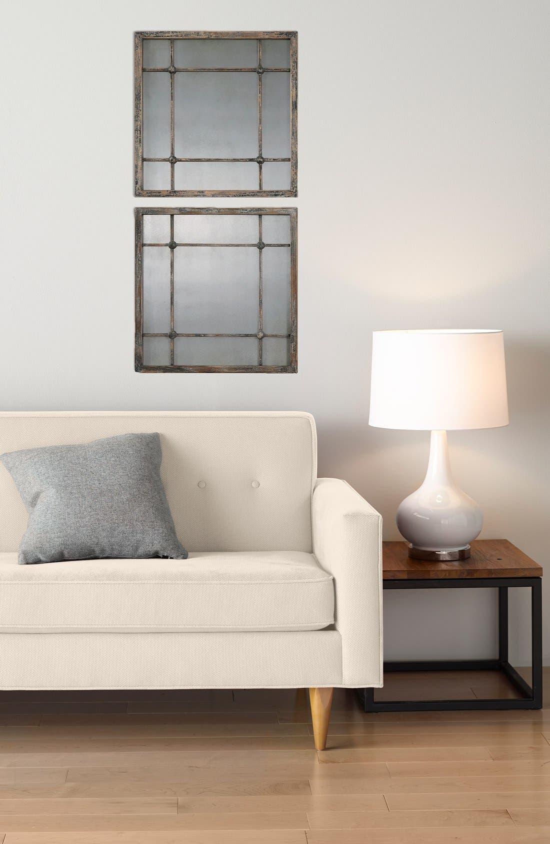 'Saragano' Square Mirror,                             Alternate thumbnail 2, color,                             Silver