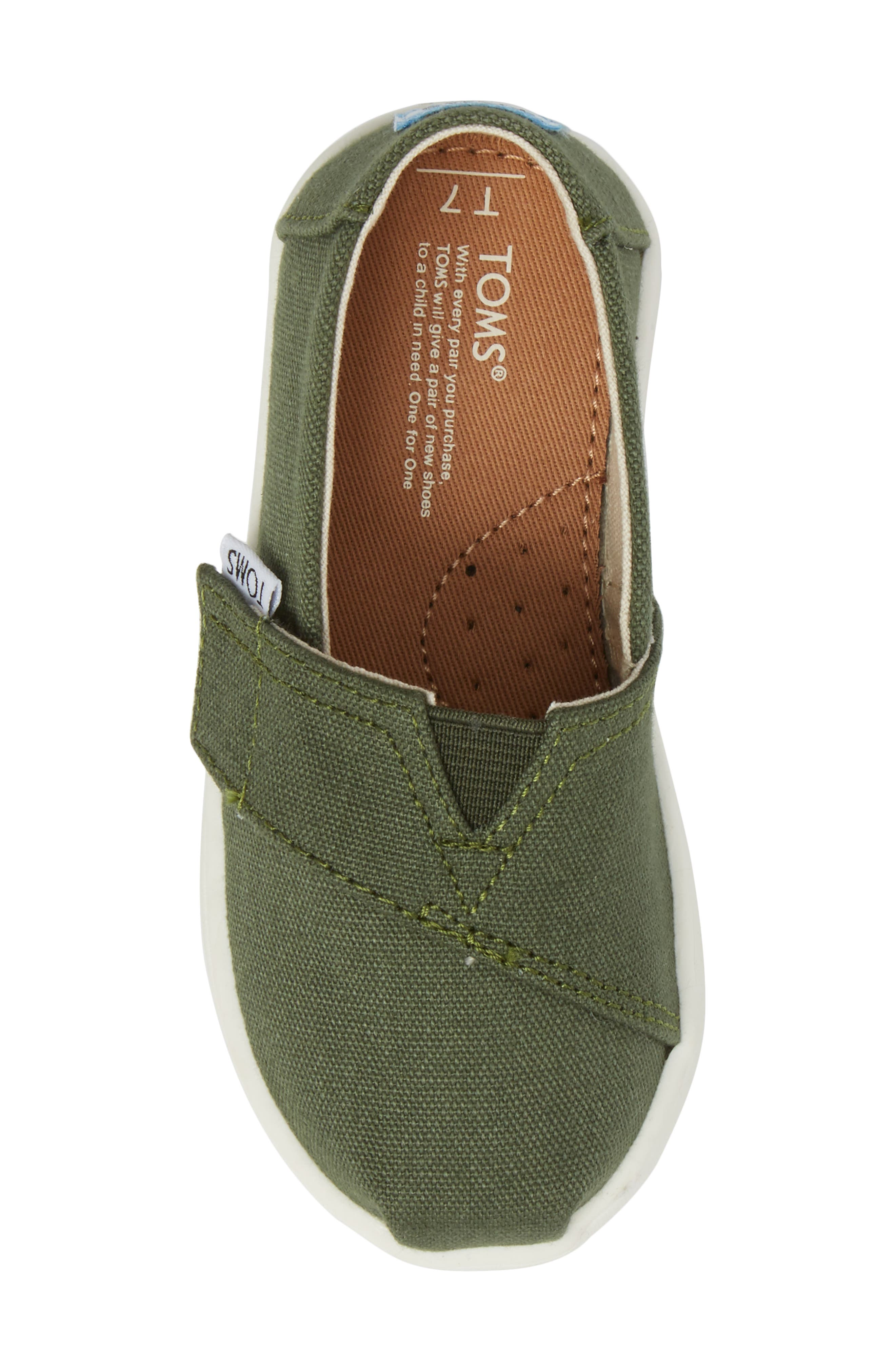 Chambray Slip-On,                             Alternate thumbnail 5, color,                             Pine Canvas