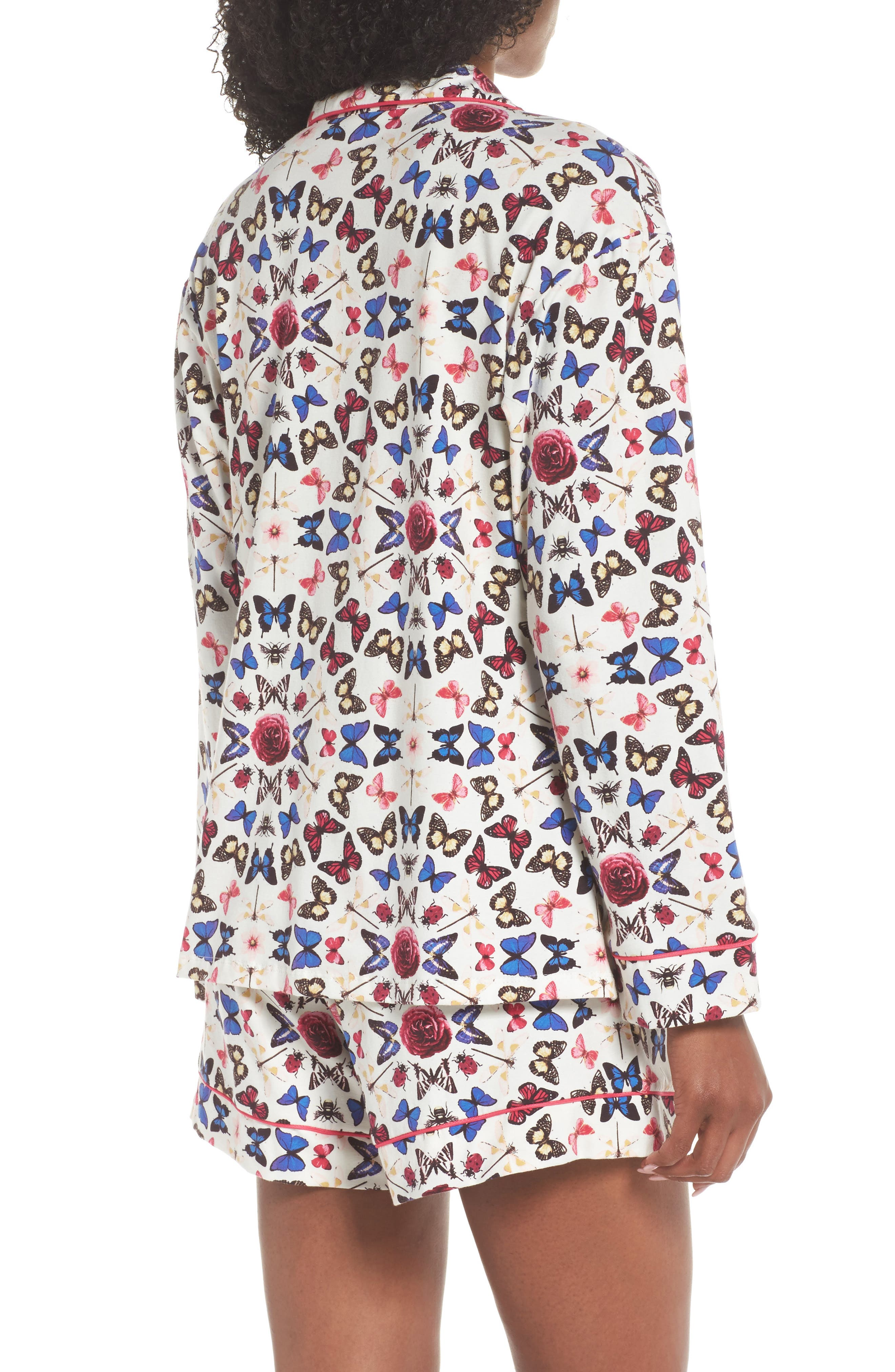 Rouge Short Pajamas,                             Alternate thumbnail 2, color,                             Butterfly Print