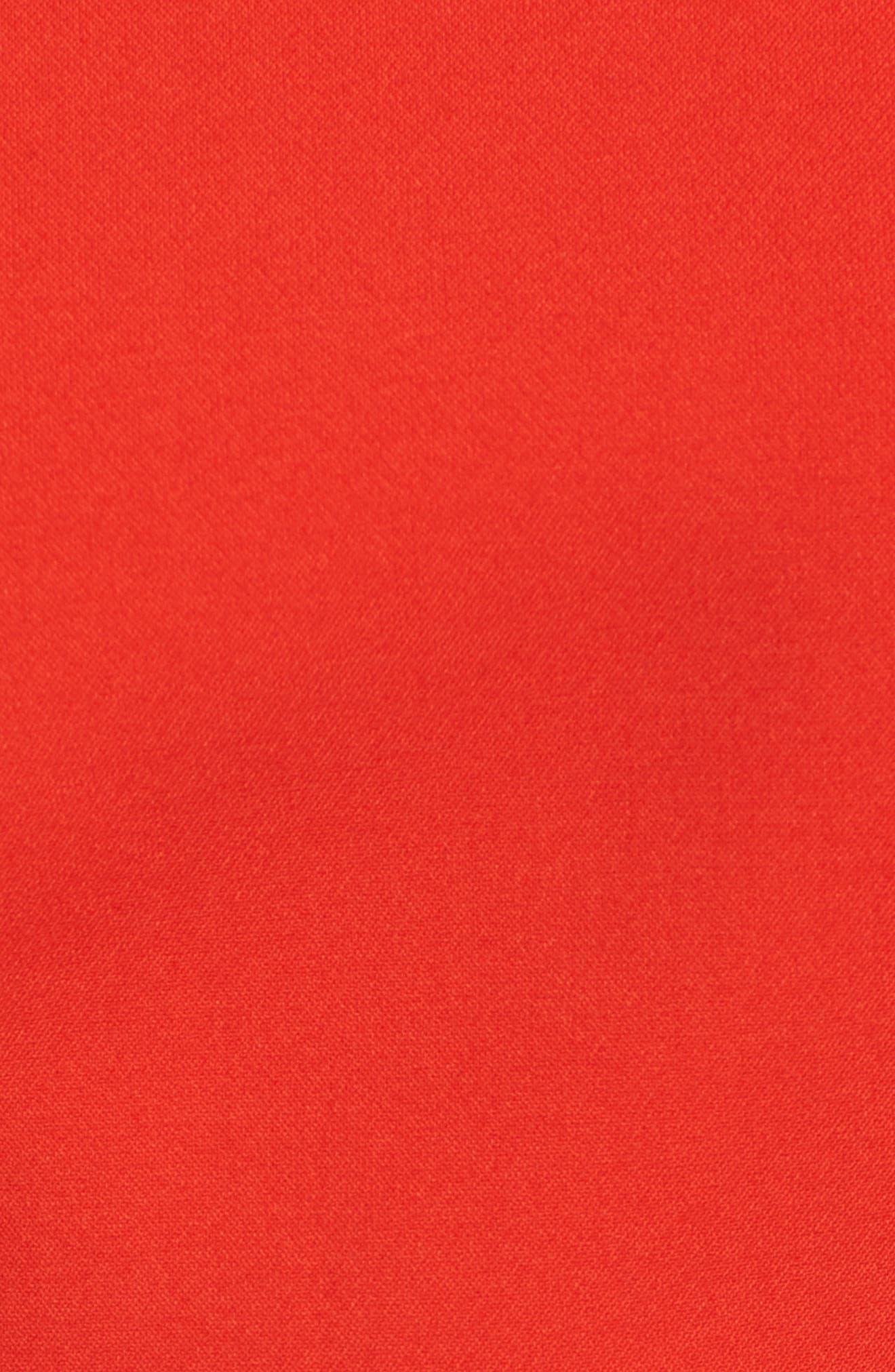 Idama Ponte Top,                             Alternate thumbnail 5, color,                             Sunset Orange