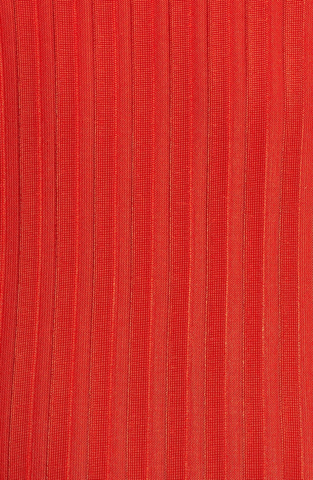 Etrica V-Neck Ribbed Top,                             Alternate thumbnail 6, color,                             Sunset Orange