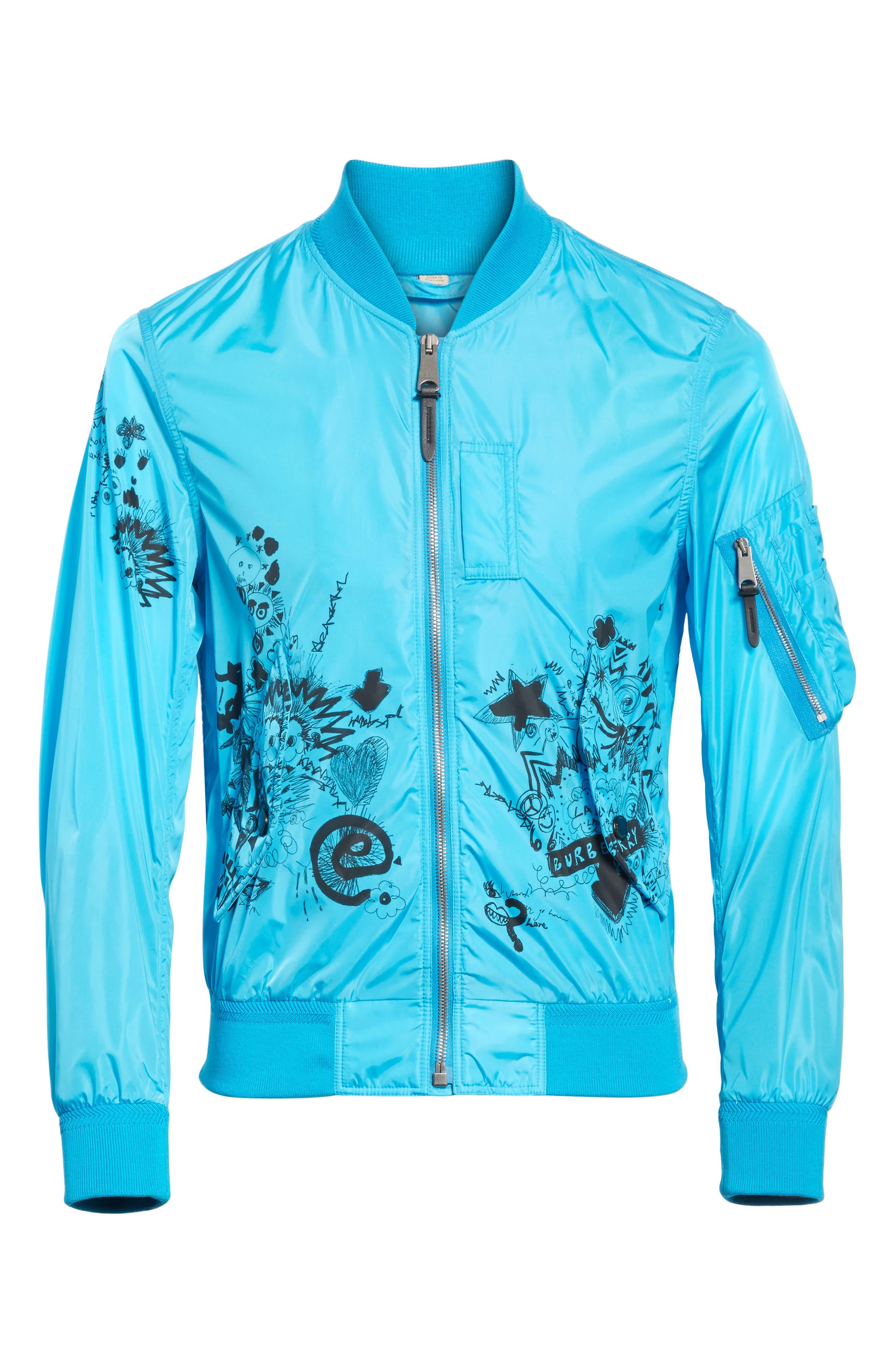 Brinkley Standard Fit Jacket,                             Alternate thumbnail 6, color,                             Bright Blue