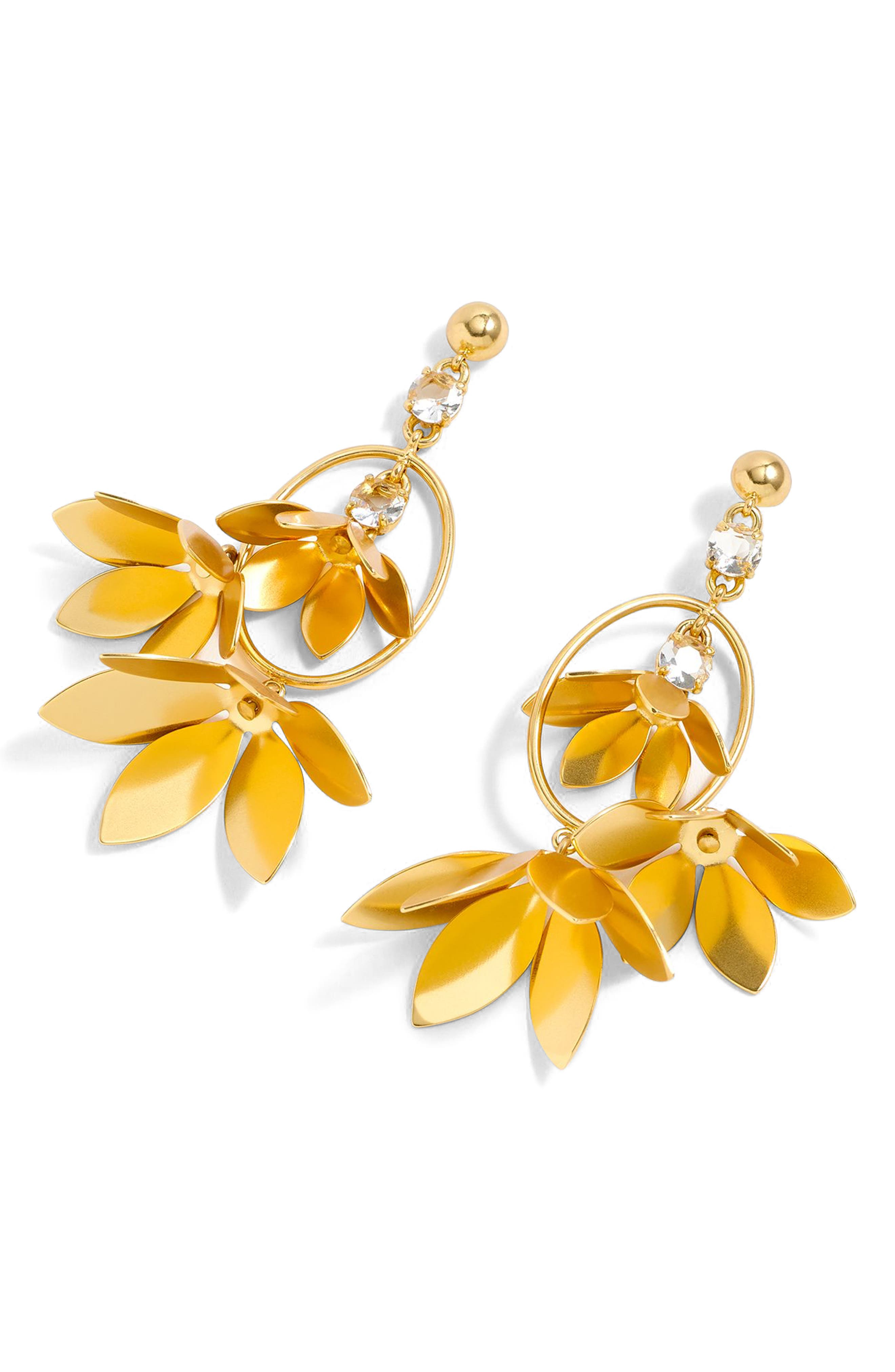 Blossom Drop Earrings,                         Main,                         color, Gold