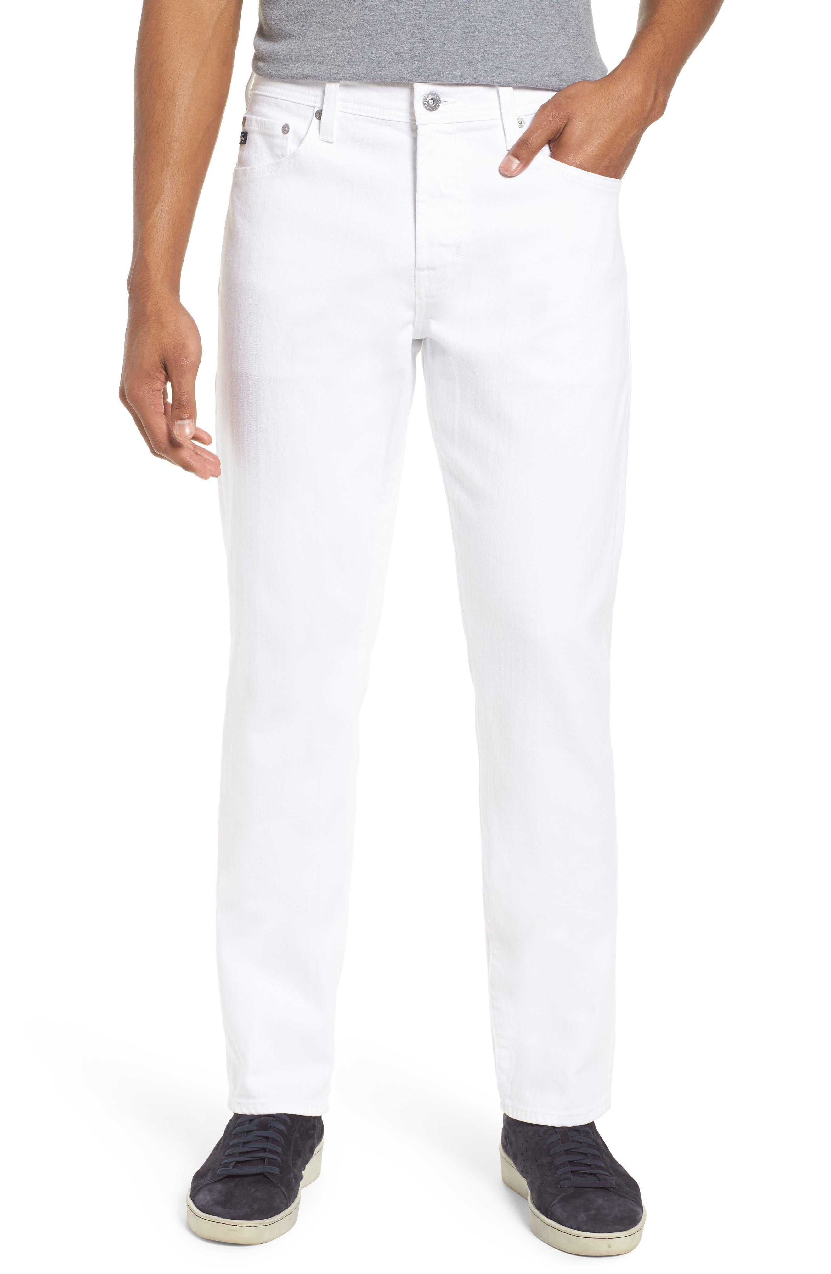 Everett Slim Straight Leg Jeans,                         Main,                         color, White