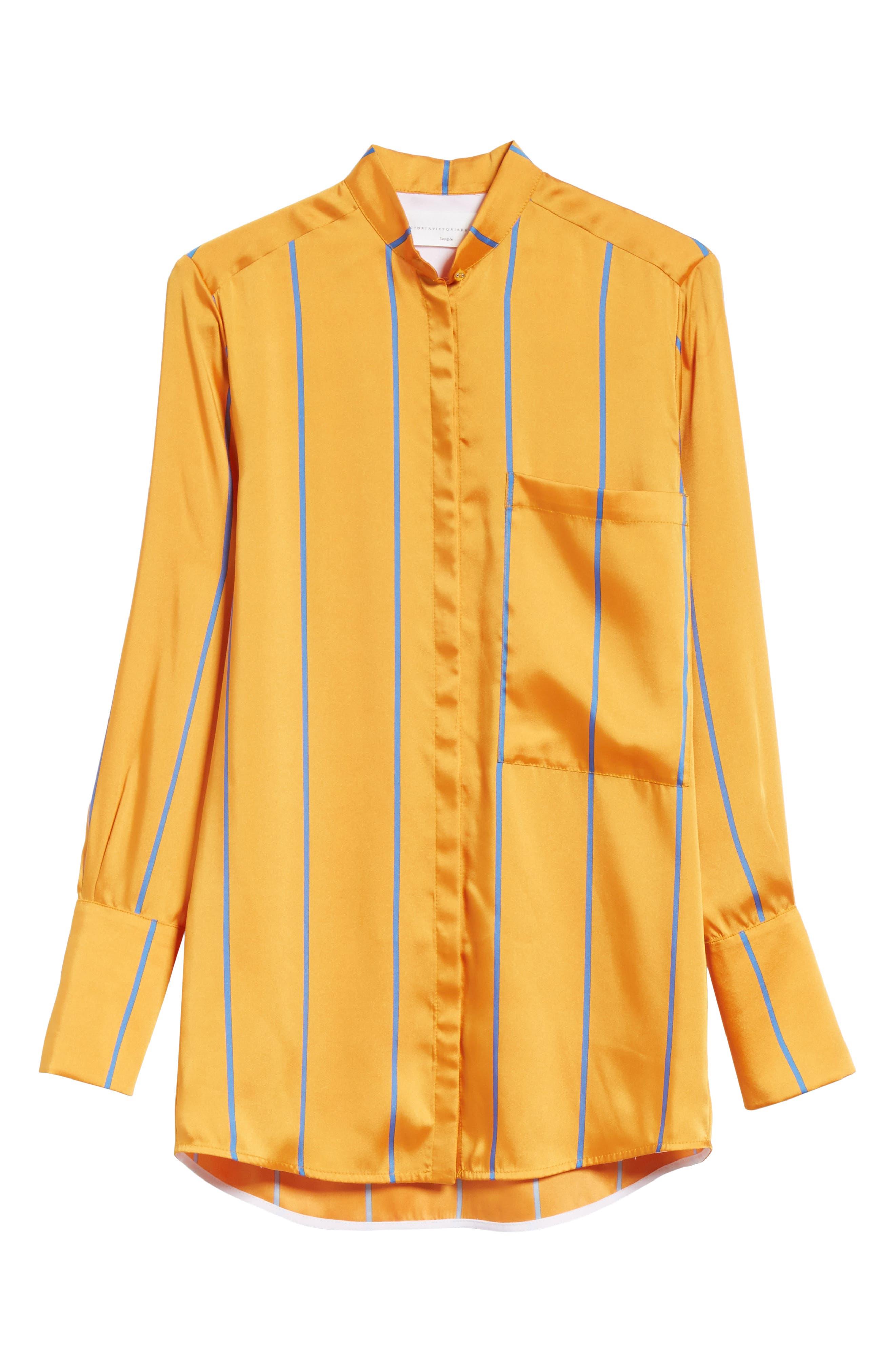 Alternate Image 6  - Victoria, Victoria Beckham Stripe Shirt