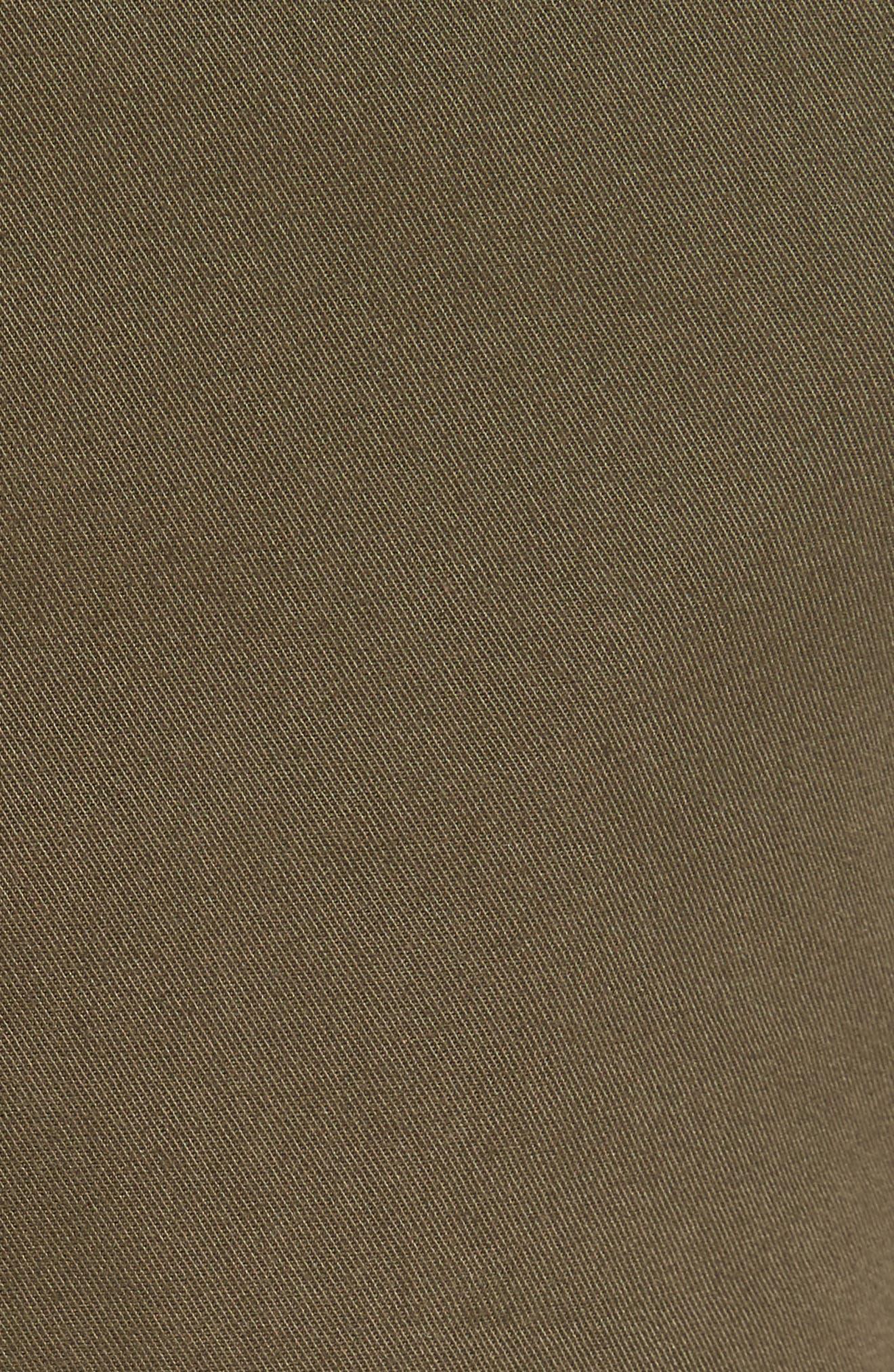 Slim Fit Chino Shorts,                             Alternate thumbnail 5, color,                             Camp Green