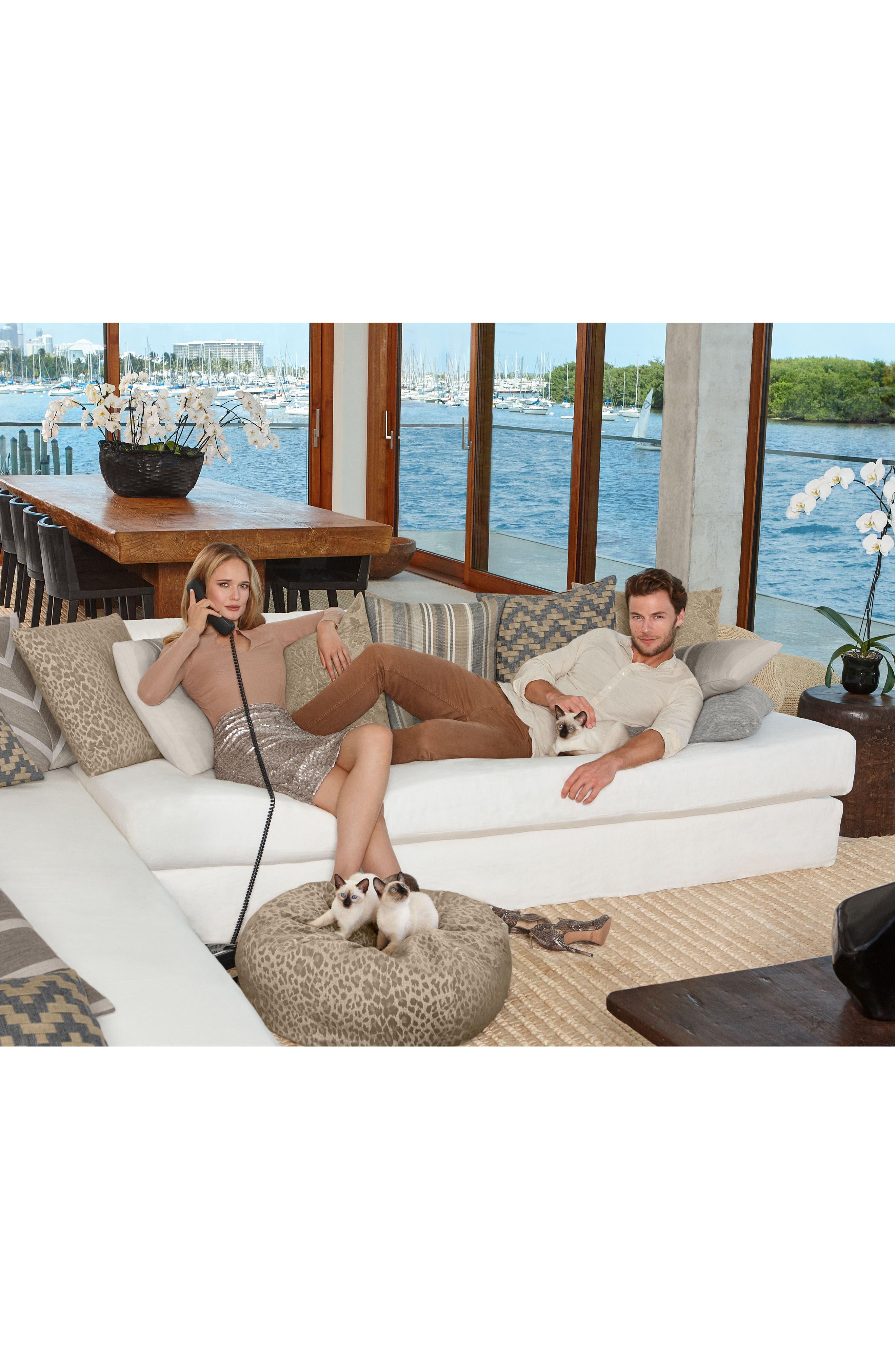 Sparkle Chevron Indoor/Outdoor Accent Pillow,                             Alternate thumbnail 2, color,                             Grey