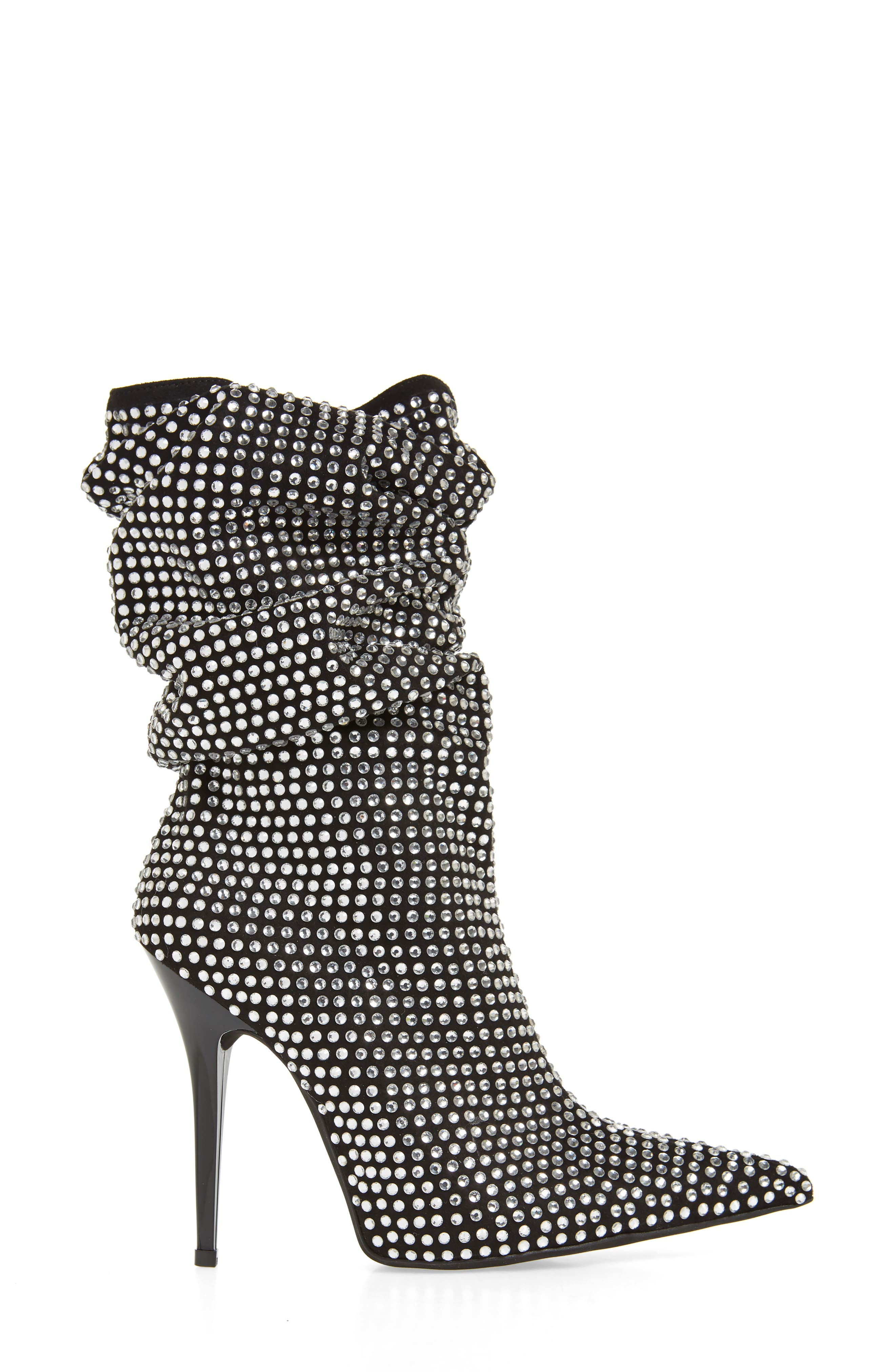 Cry4U Bootie,                             Alternate thumbnail 3, color,                             Black Suede Silver