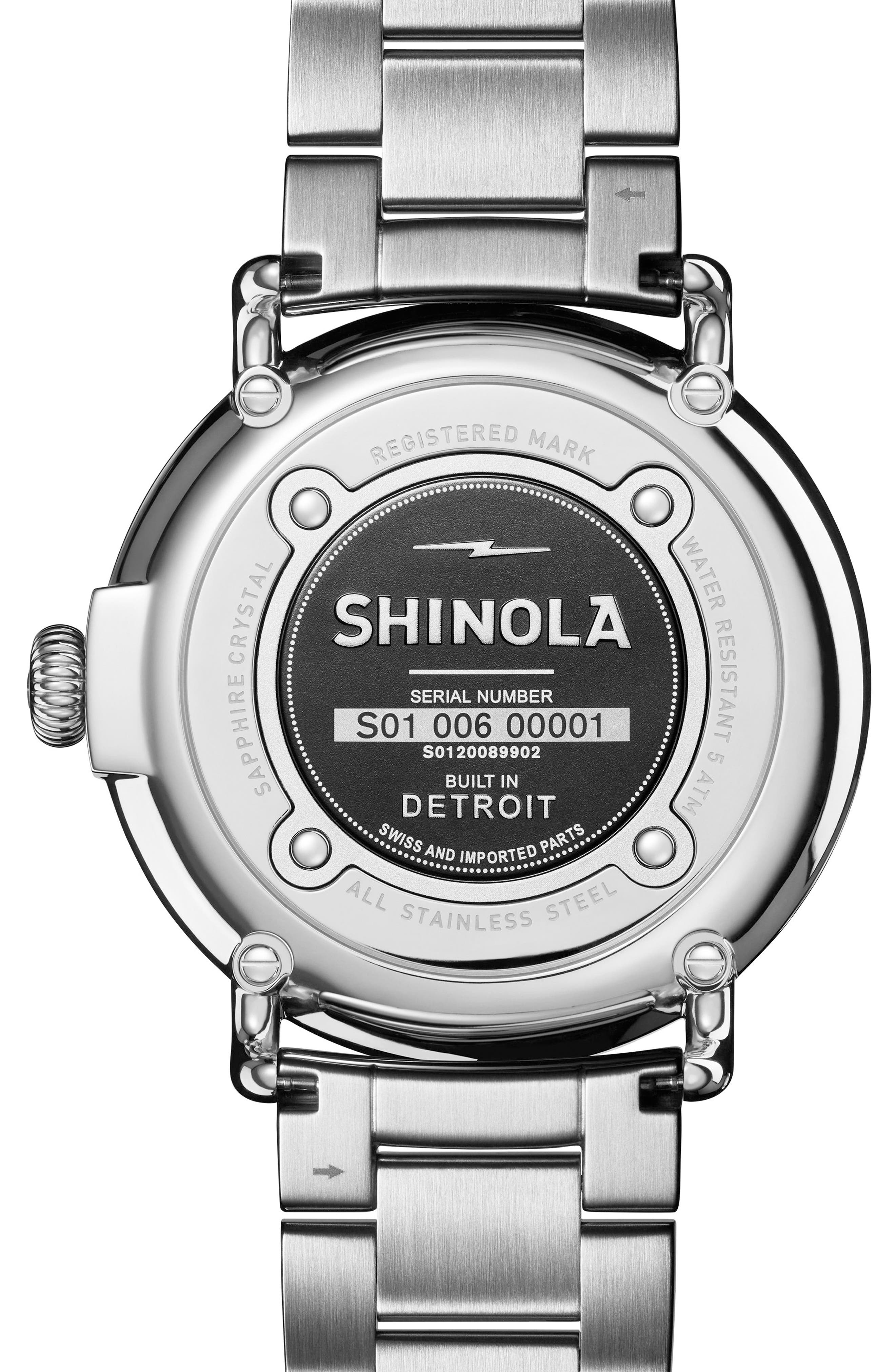 The Runwell Bracelet Watch, 47mm,                             Alternate thumbnail 2, color,                             Silver/ Slate Blue/ Silver
