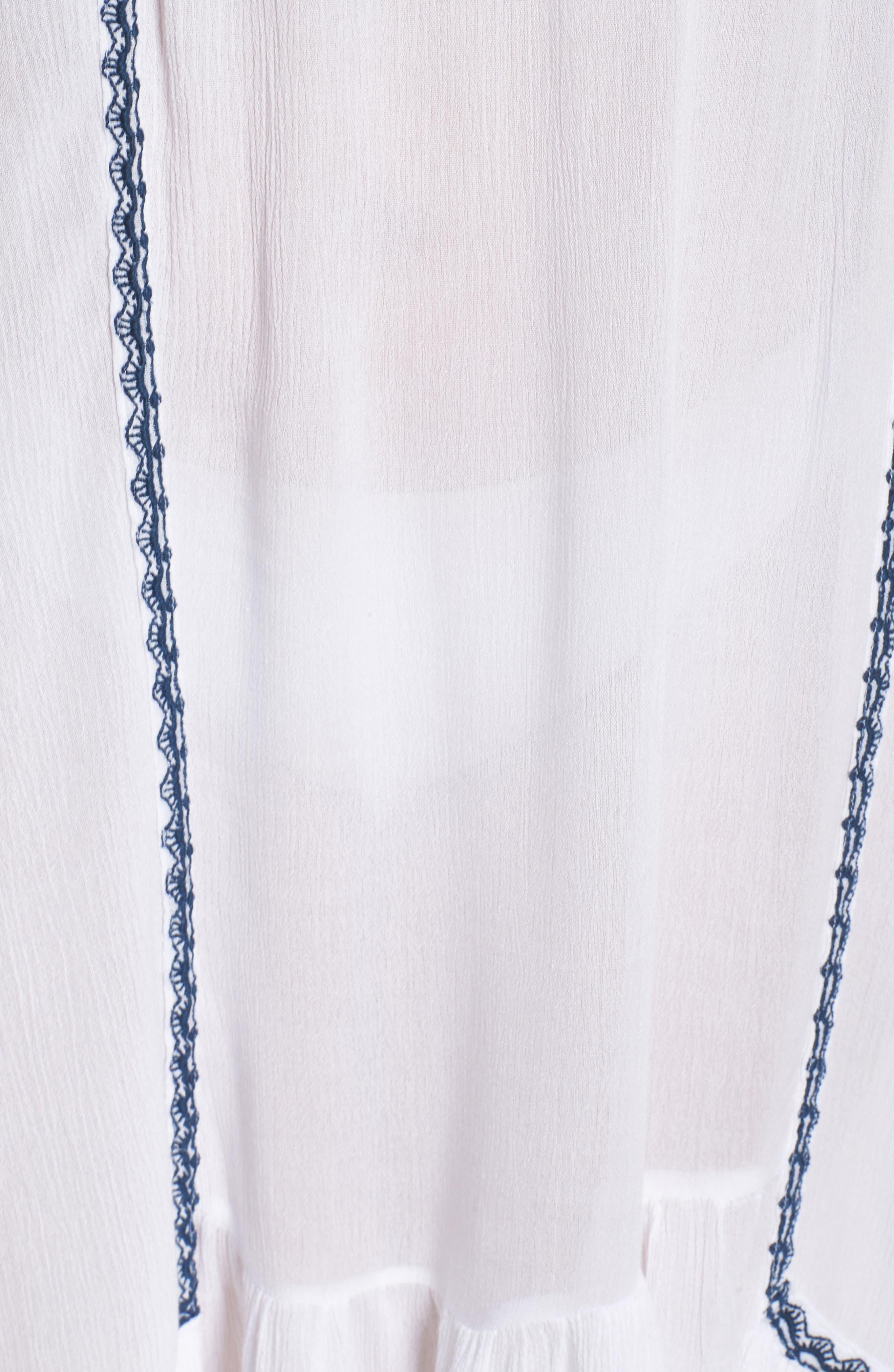 Gavin One-Shoulder Cover-Up Dress,                             Alternate thumbnail 5, color,                             White/ Navy