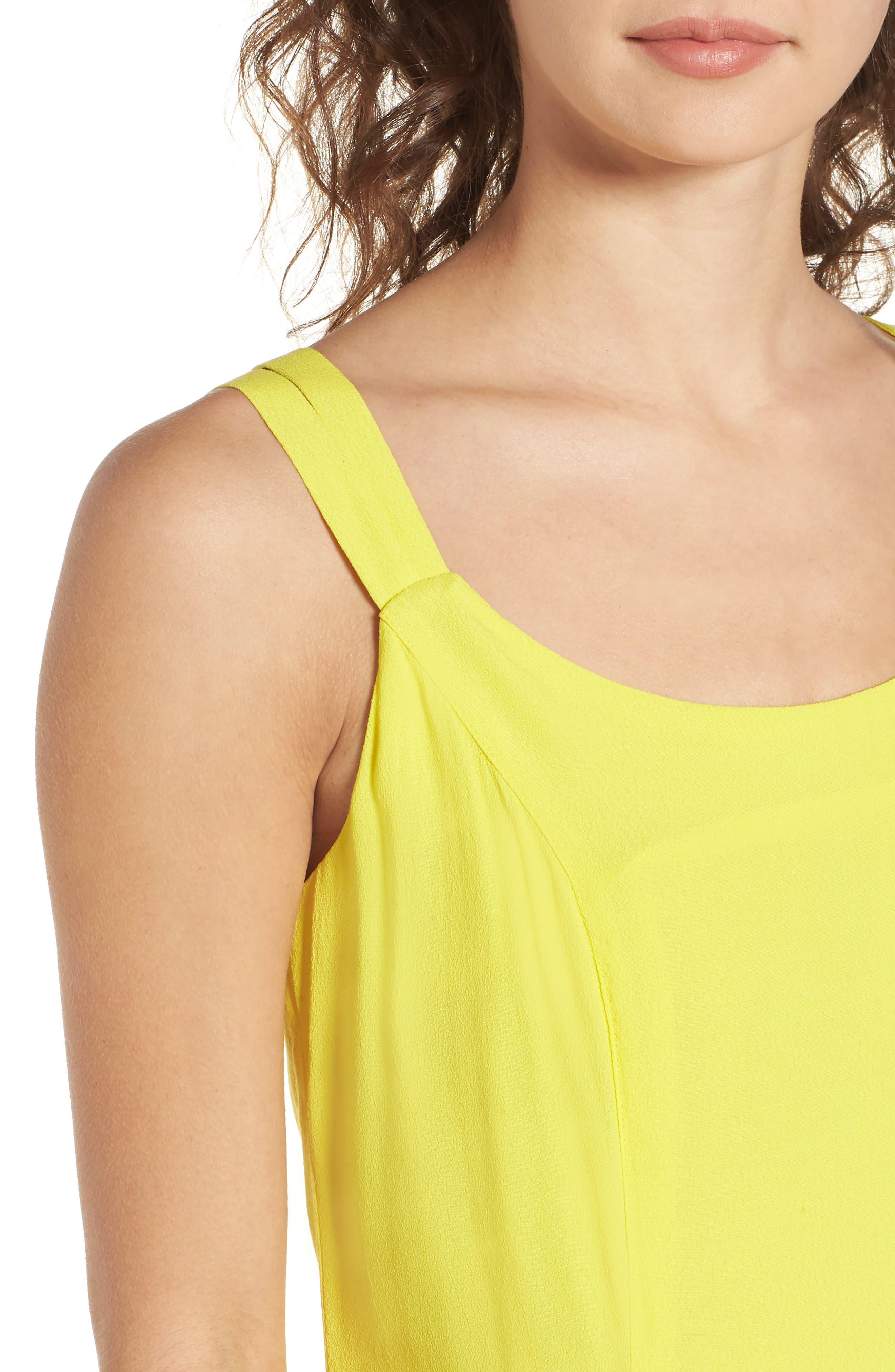 Vera Double Strap Dress,                             Alternate thumbnail 4, color,                             Lemon