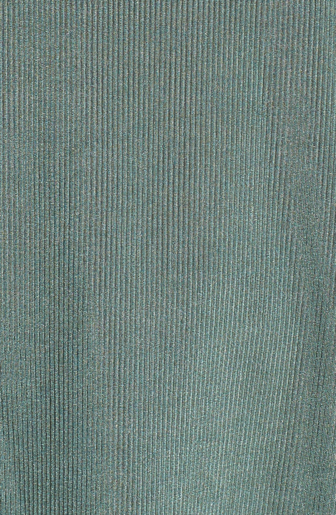Cold Shoulder Ruffle Top,                             Alternate thumbnail 5, color,                             Khaki