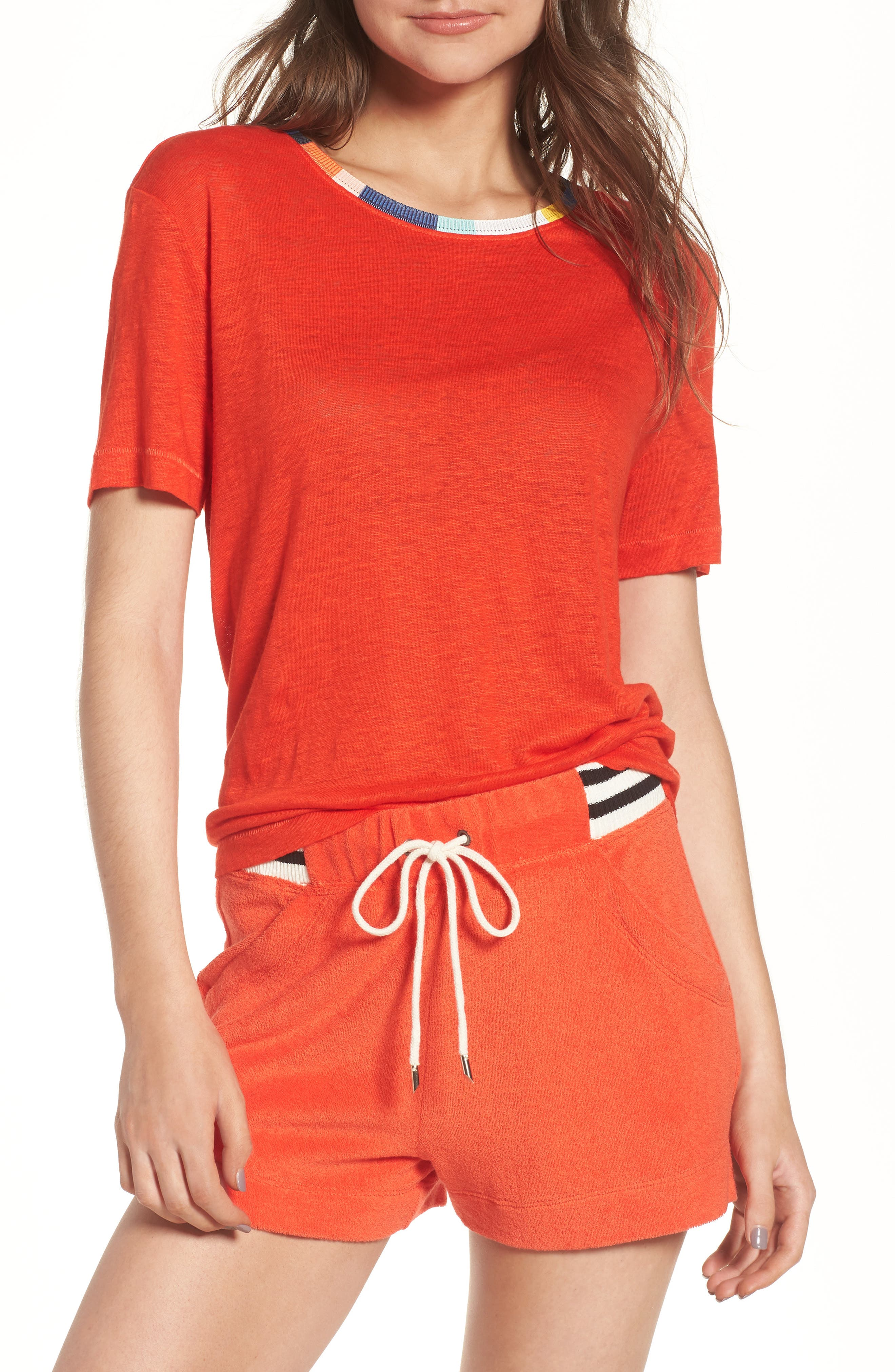 x Margherita Ciao Bella Tee,                         Main,                         color, Red