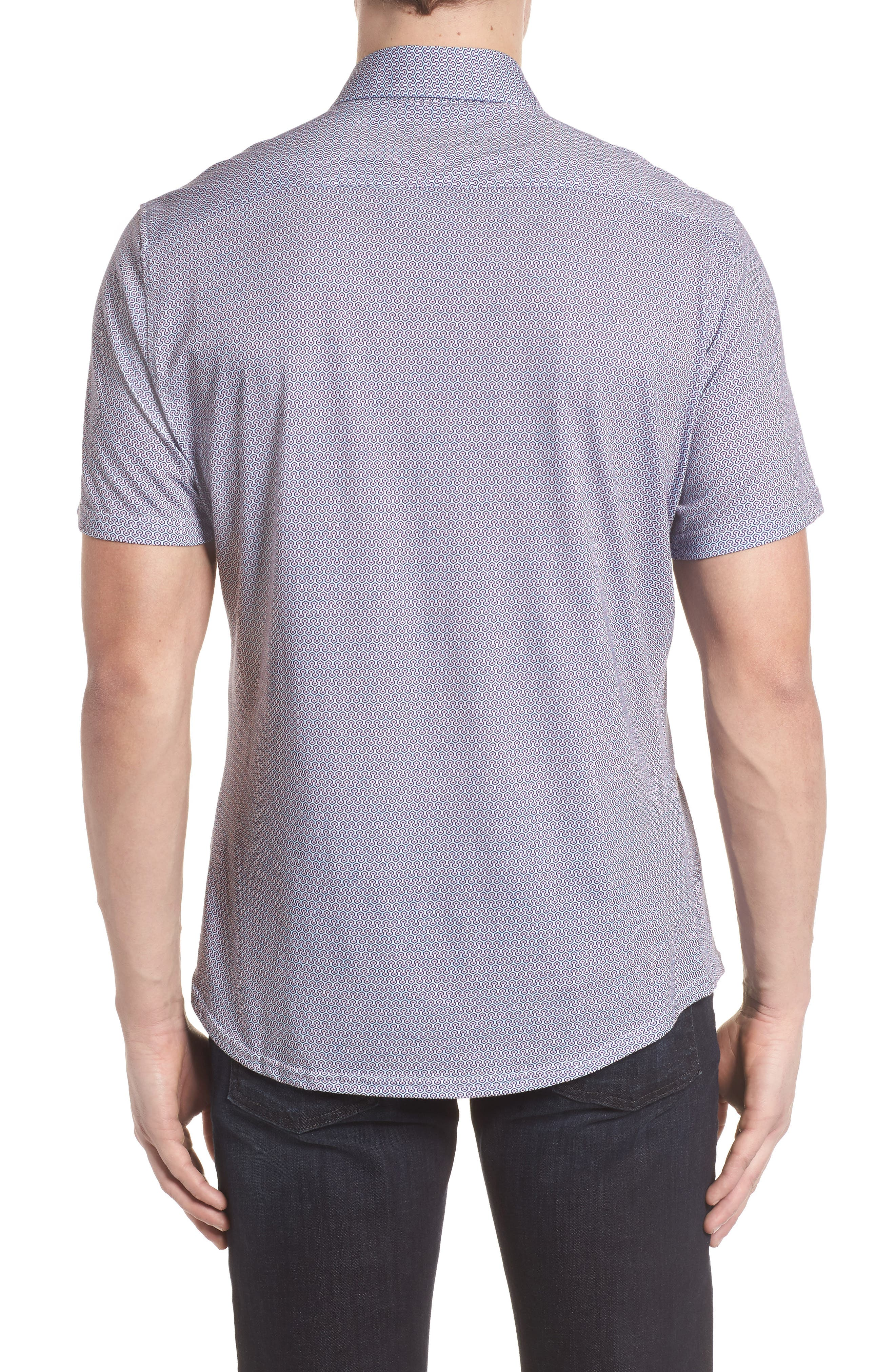 Knit Sport Shirt,                             Alternate thumbnail 2, color,                             Pink