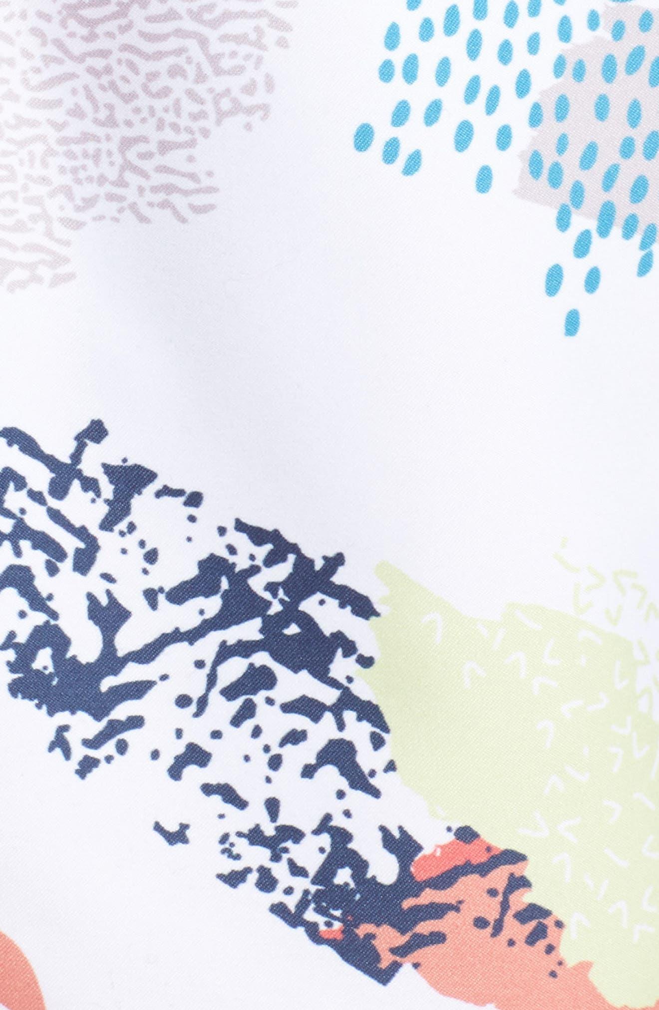 Effervescence Swim Trunks,                             Alternate thumbnail 5, color,                             White