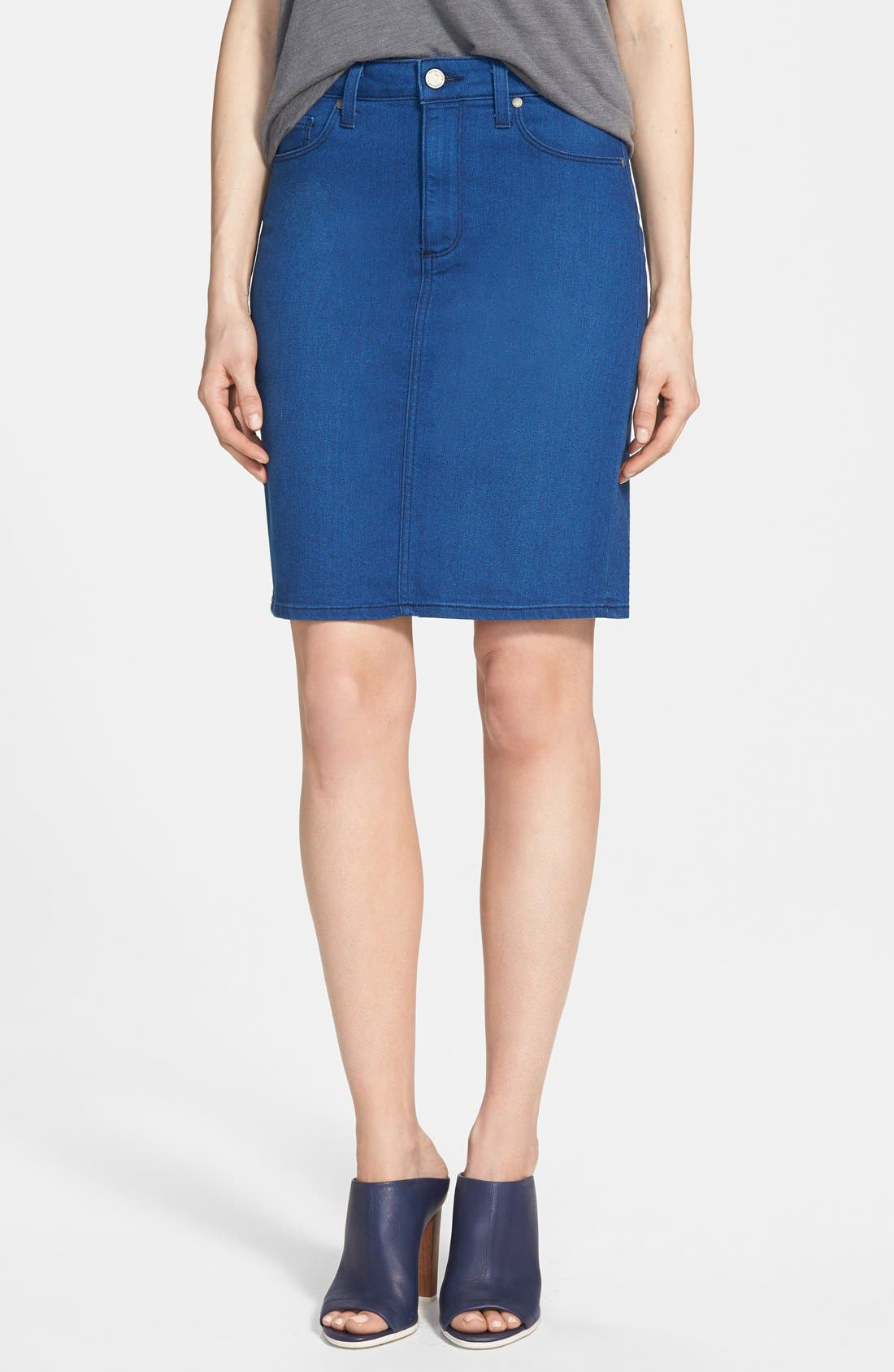Alternate Image 1 Selected - Paige Denim 'Deirdre' Denim Pencil Skirt (Frenchie No Whiskers)