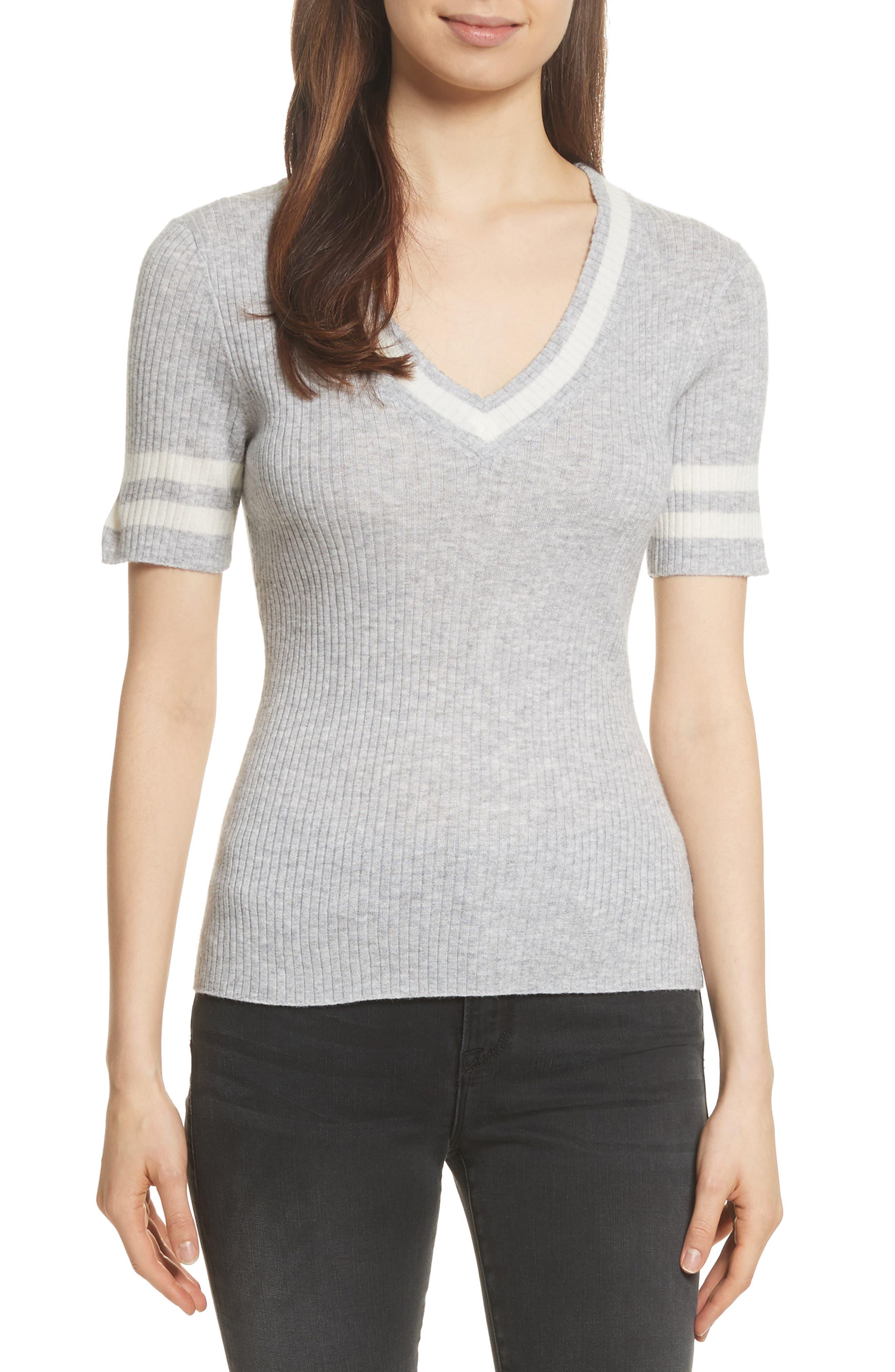 Varsity Sweater,                         Main,                         color, Gris