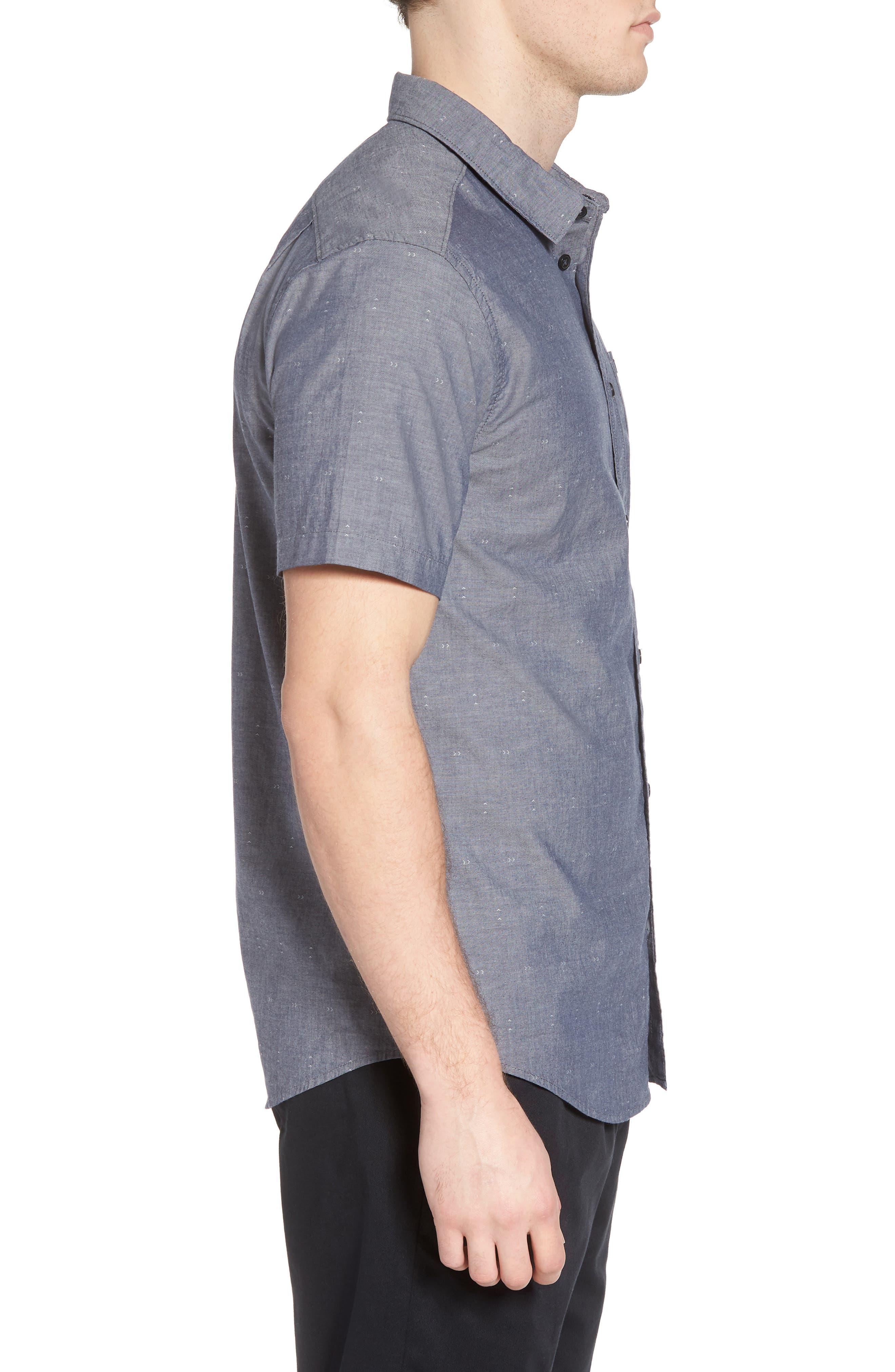 Arrows Woven Shirt,                             Alternate thumbnail 3, color,                             Classic Indigo
