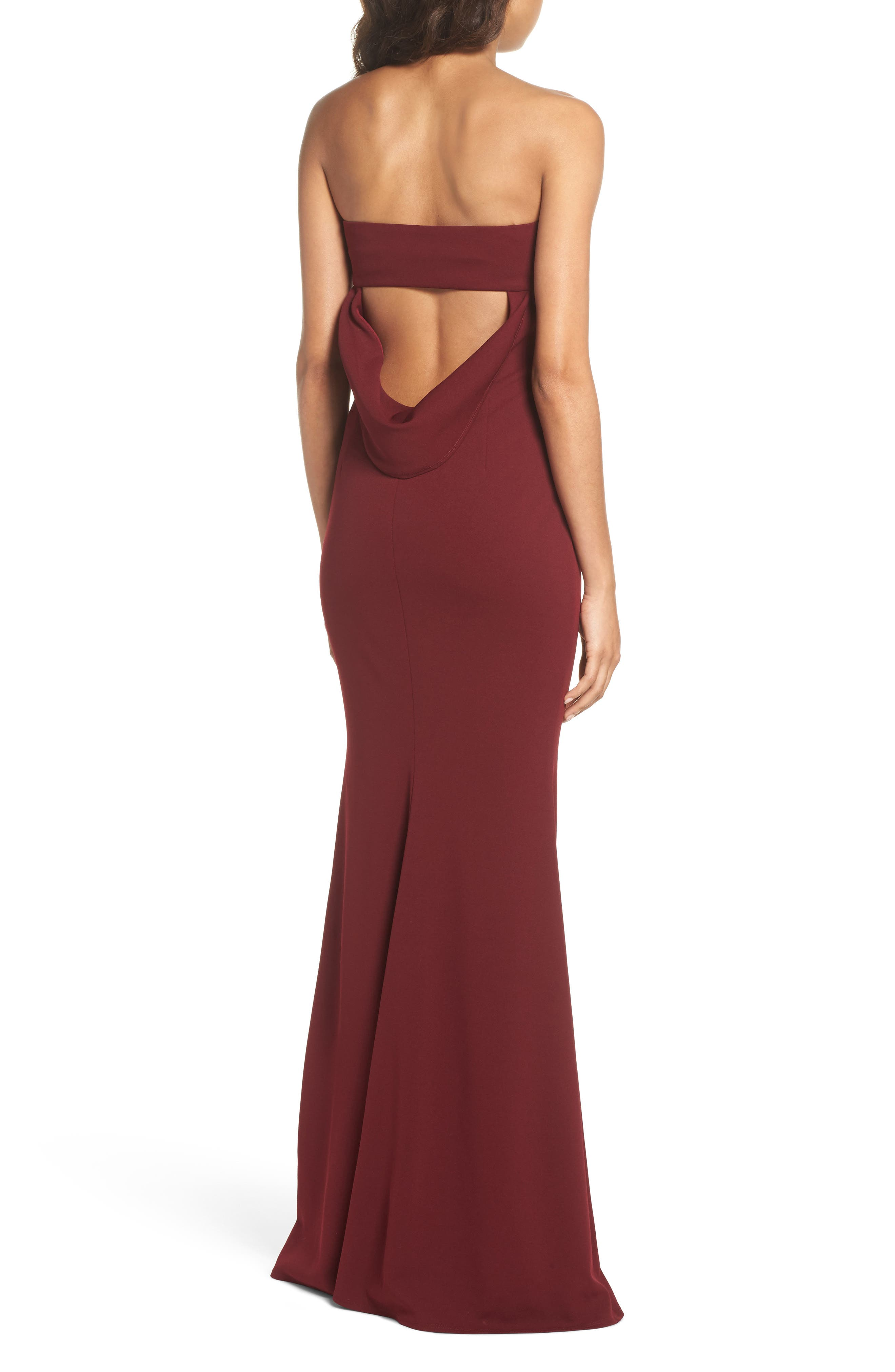 Alternate Image 2  - Katie May Strapless Cutout Back Gown