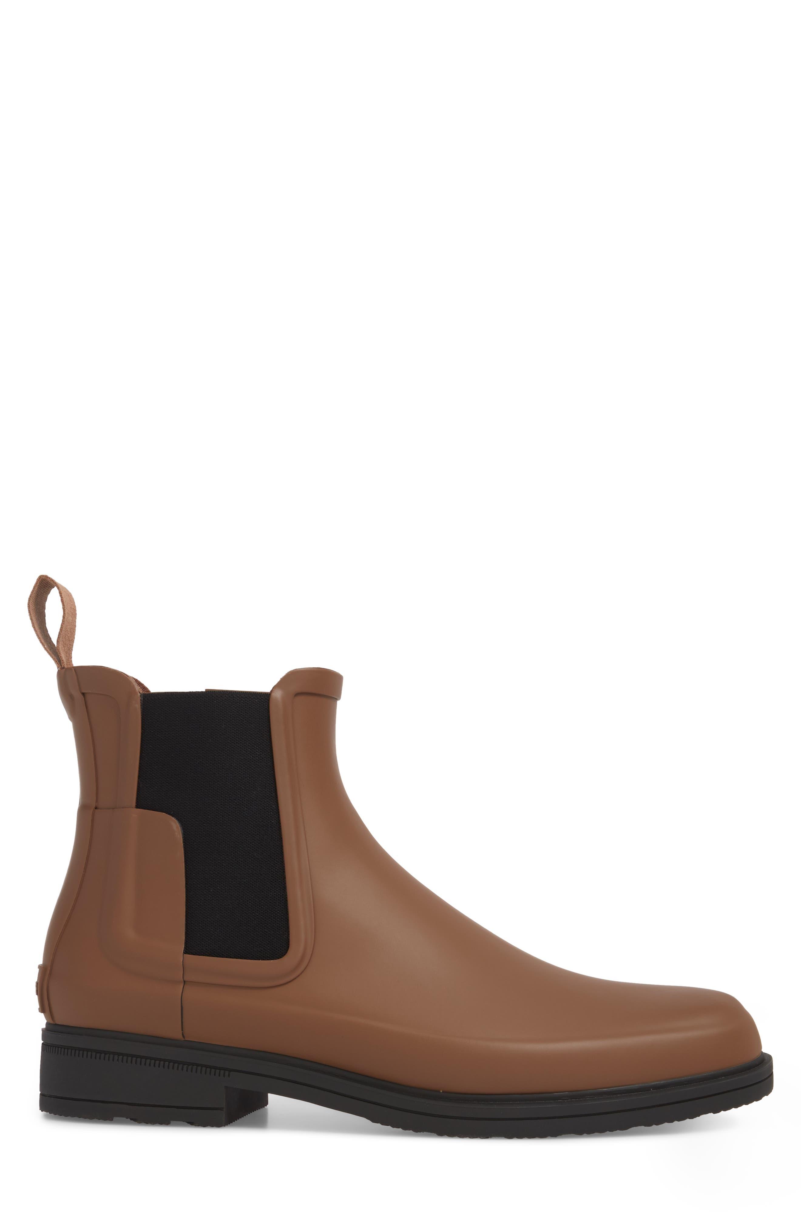 Original Refined Waterproof Chelsea Boot,                             Alternate thumbnail 3, color,                             Soil/ Black