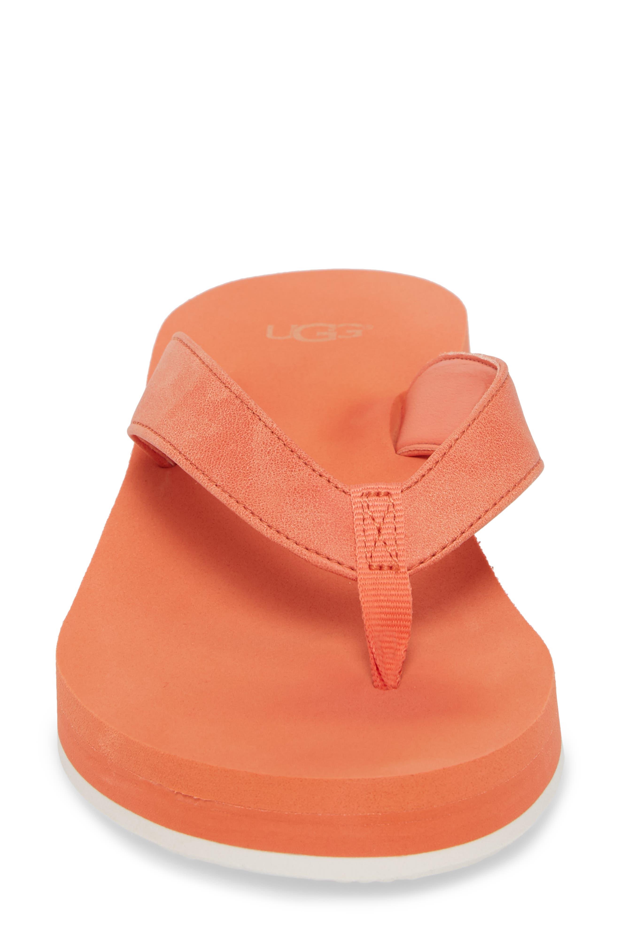 Dani Wedge Flip Flop,                             Alternate thumbnail 4, color,                             Fusion Coral