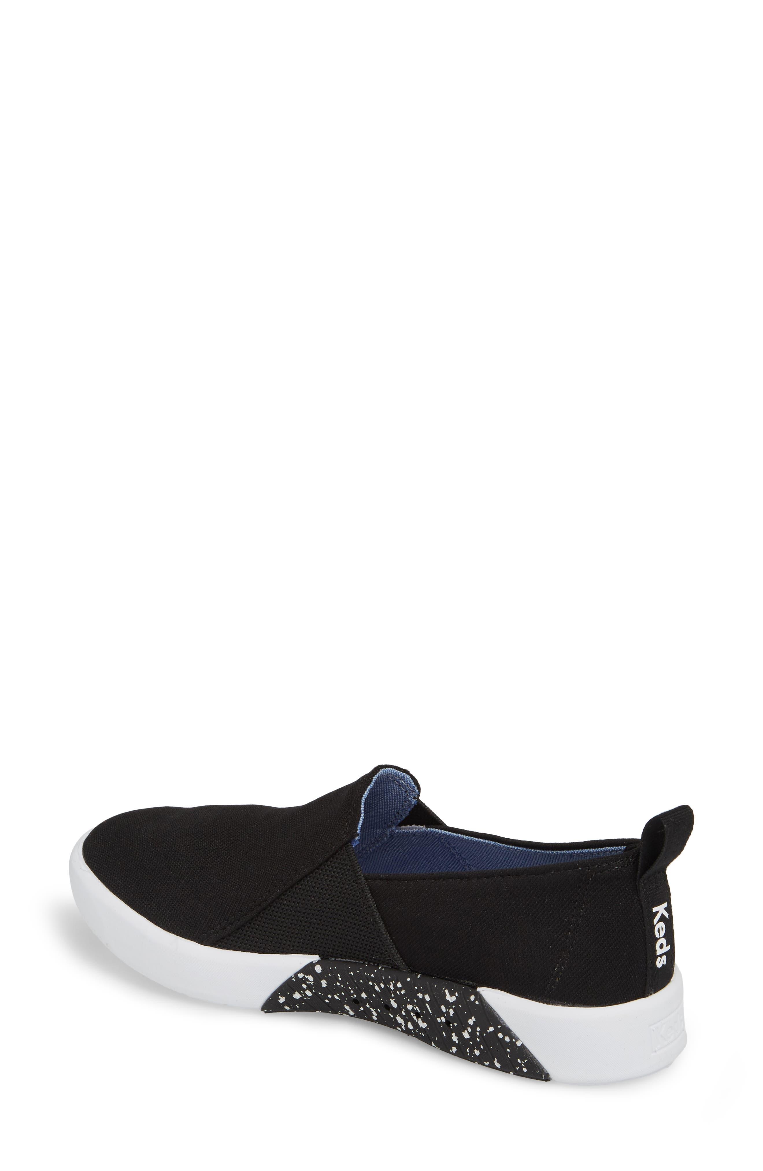 Studio Liv Jersey Slip-On Sneaker,                             Alternate thumbnail 2, color,                             Black