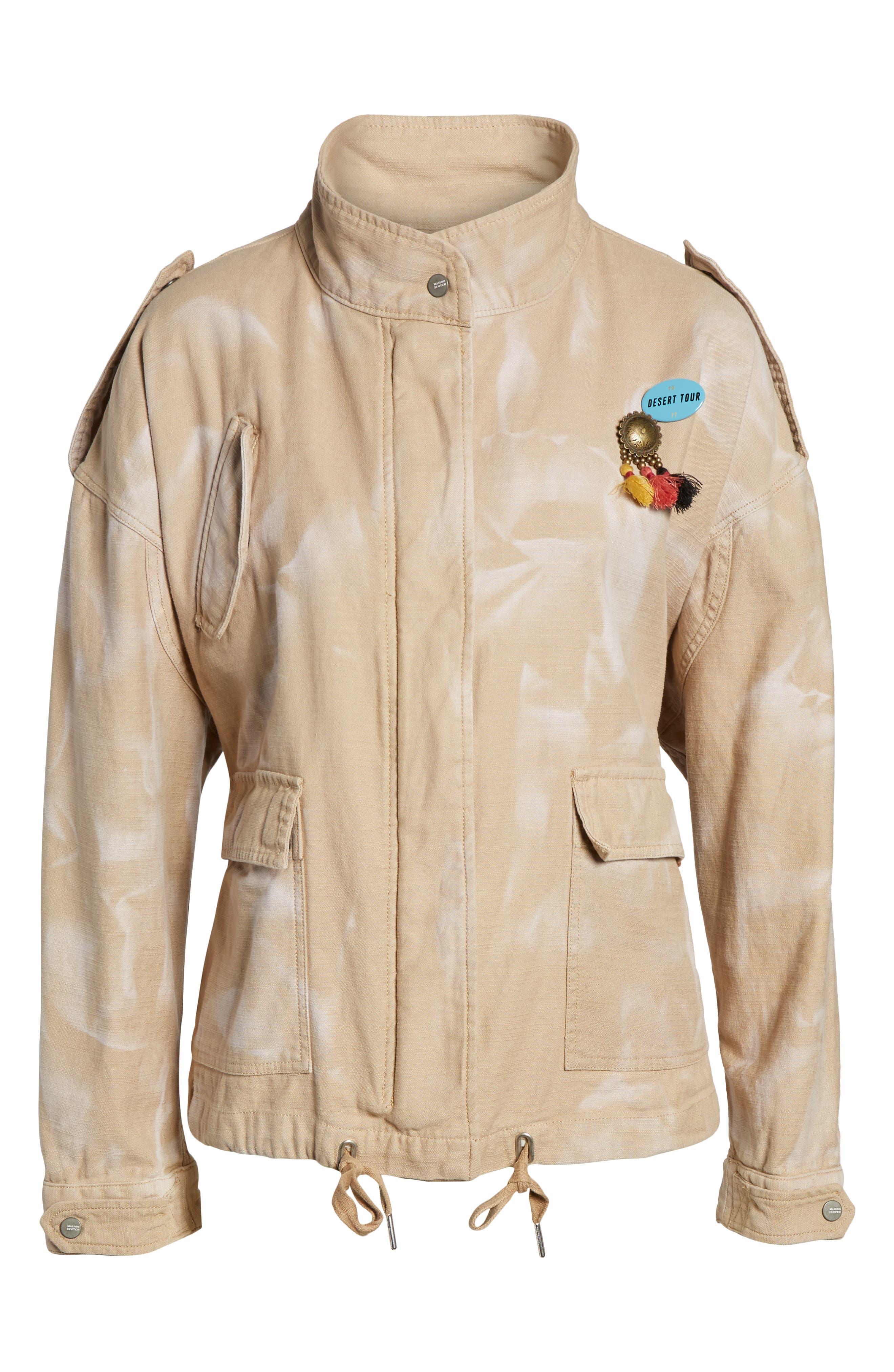Oversize Military Jacket,                             Alternate thumbnail 7, color,                             Color 37 Sand