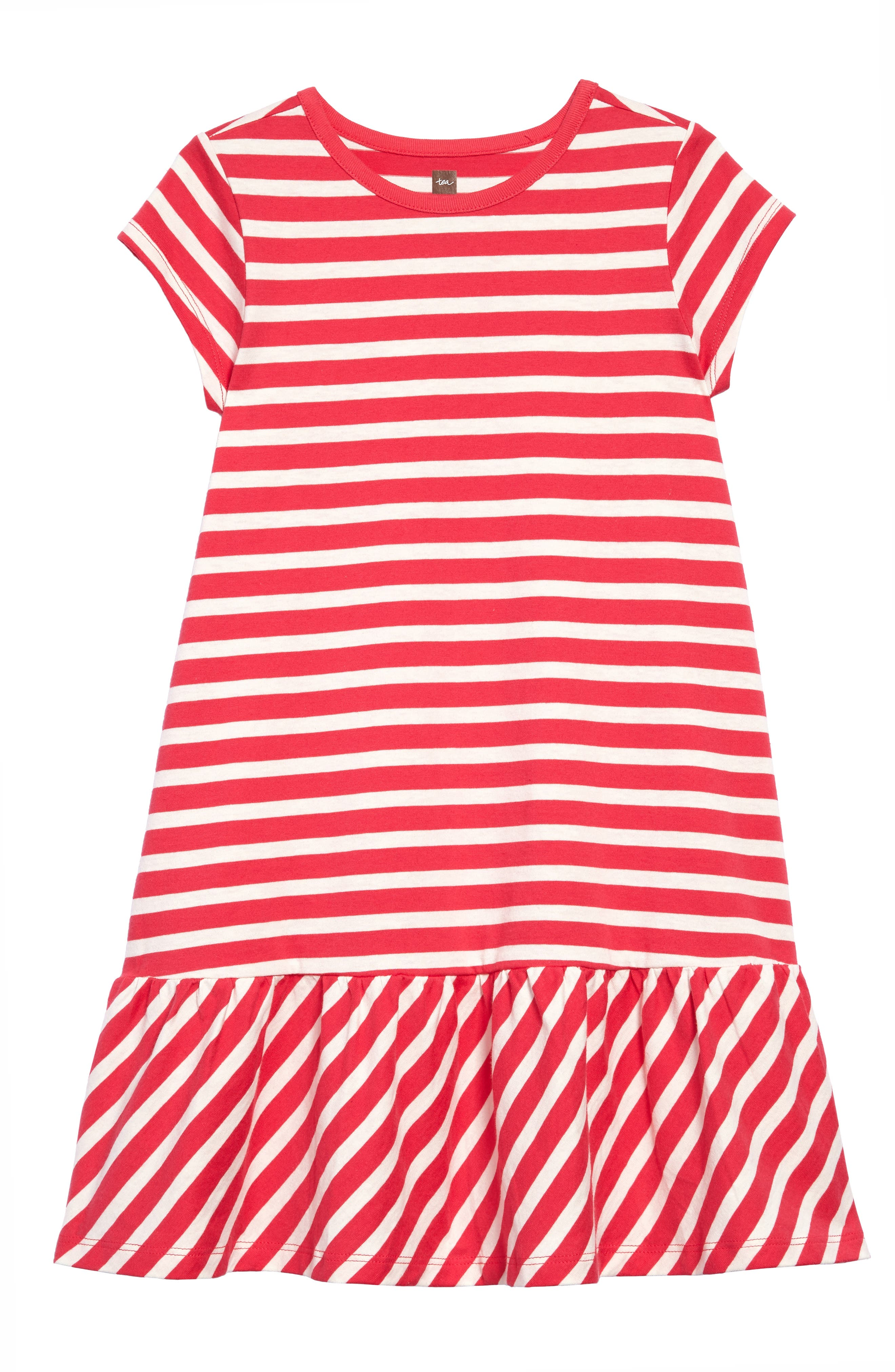 Tea Collection Stripe Ruffle Dress (Toddler Girls, Little Girls & Big Girls)