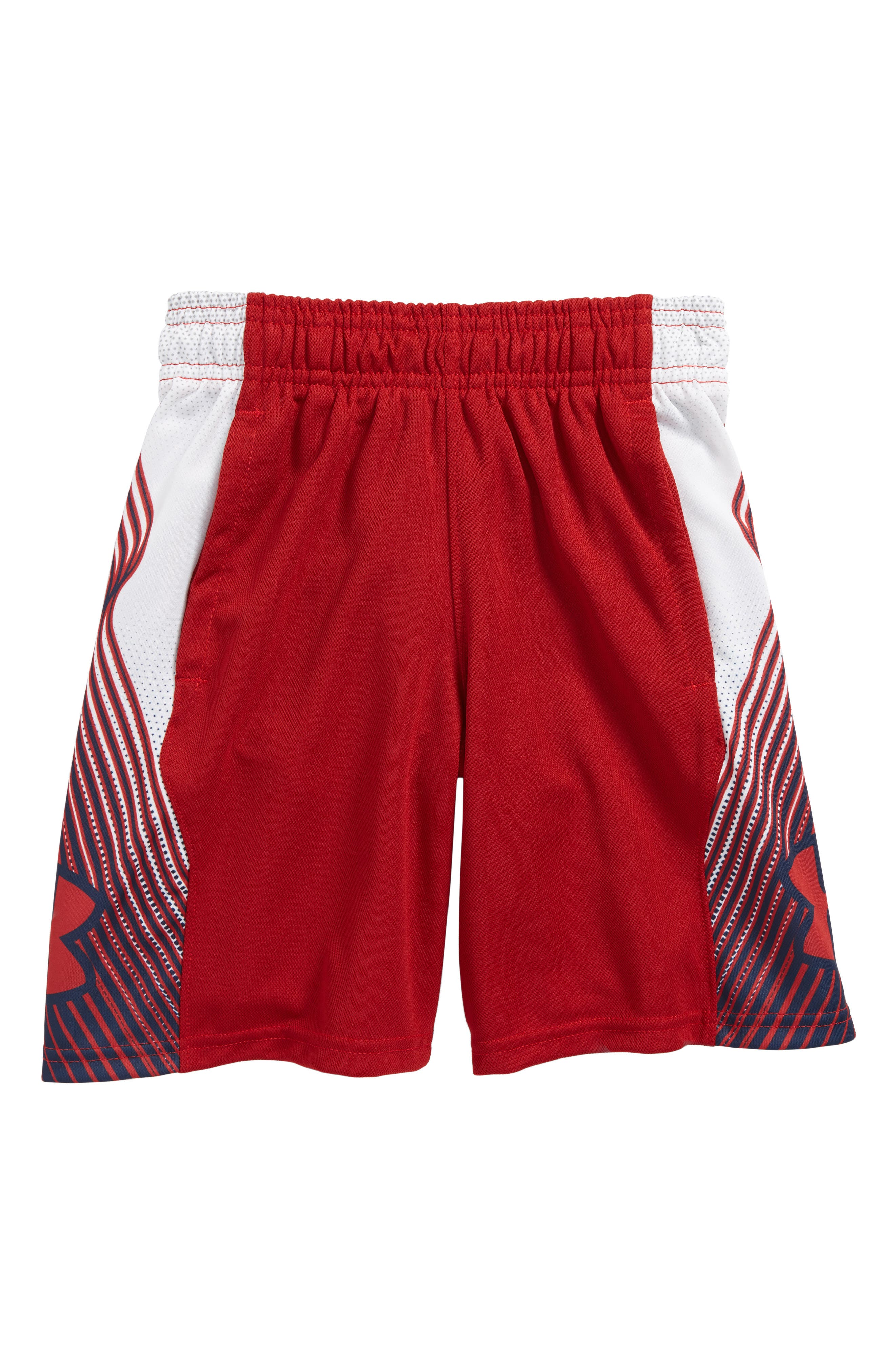 Space the Floor HeatGear<sup>®</sup> Shorts,                             Main thumbnail 1, color,                             Rapture Red/ Academy
