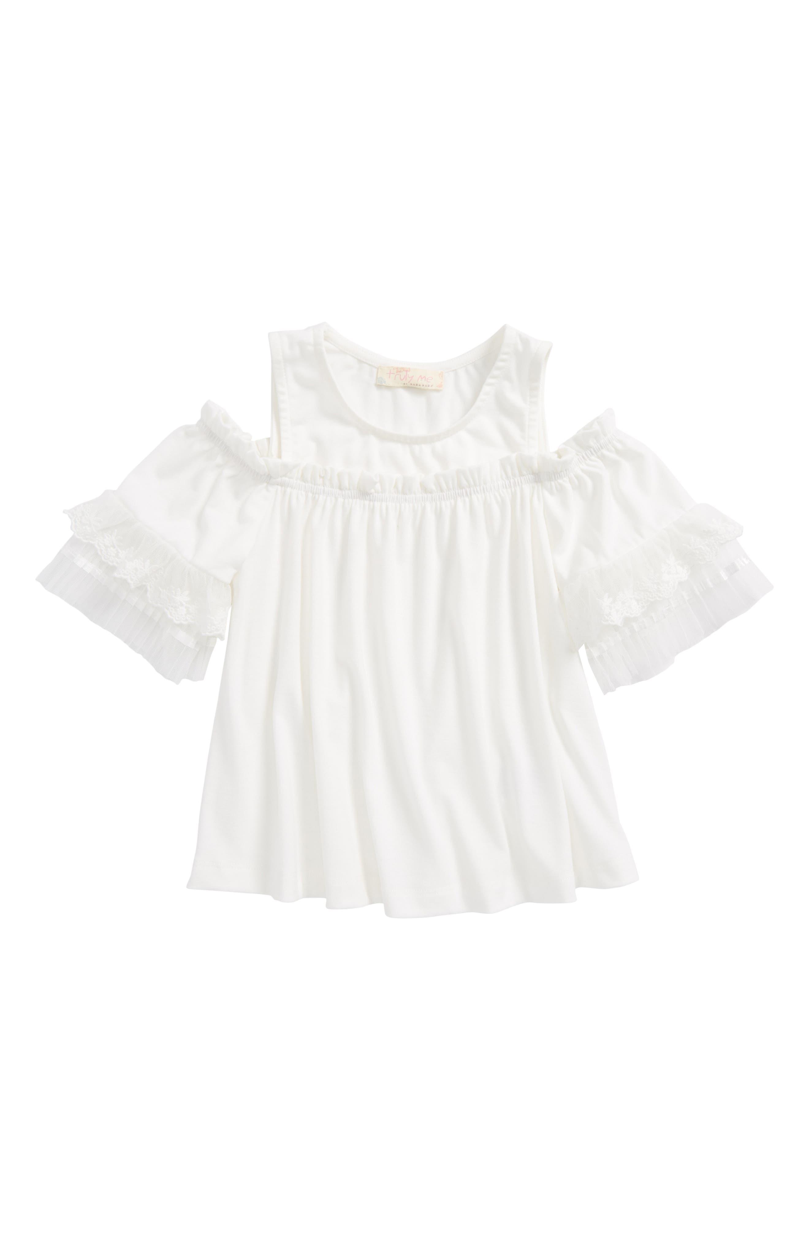 Cold Shoulder Top,                         Main,                         color, Off White