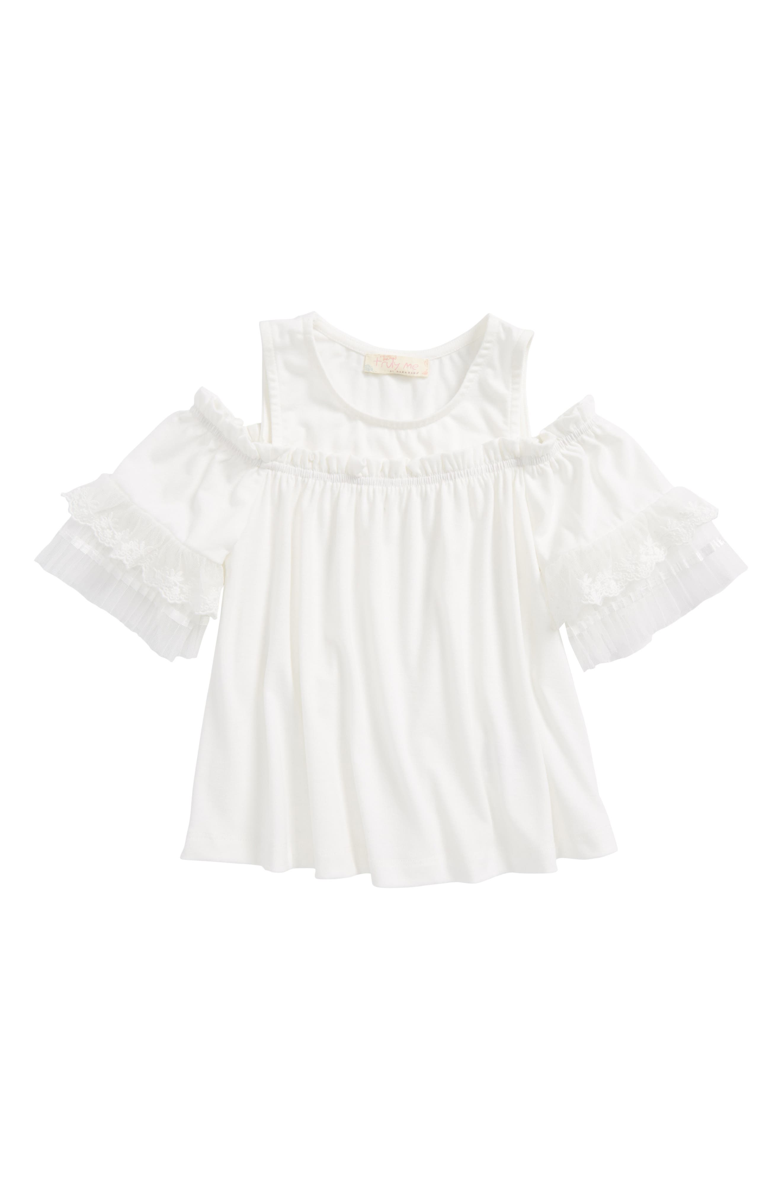 Truly Me Cold Shoulder Top (Toddler Girls & Little Girls)
