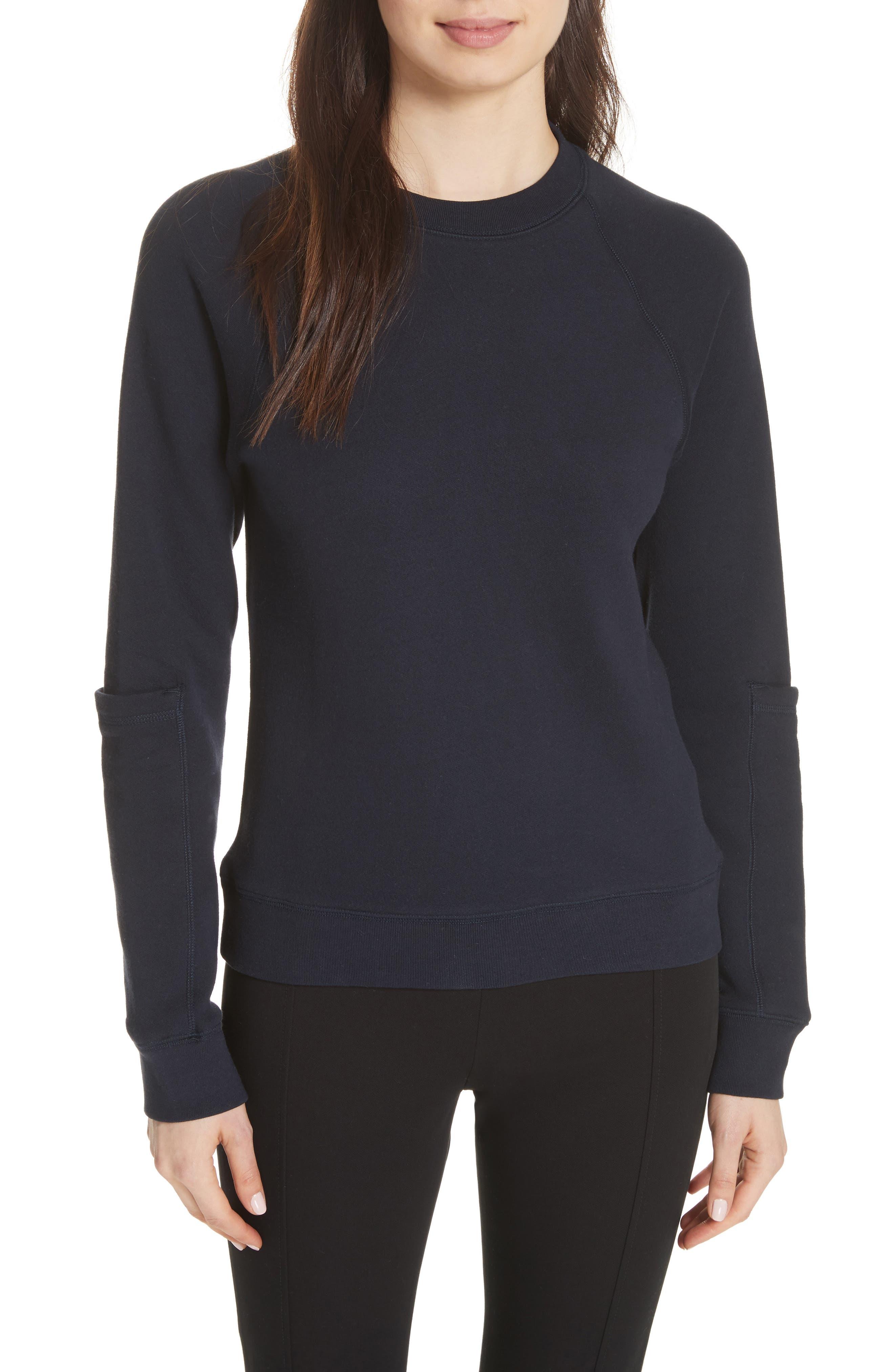 JOSEPH Pocket Sleeve Sweatshirt