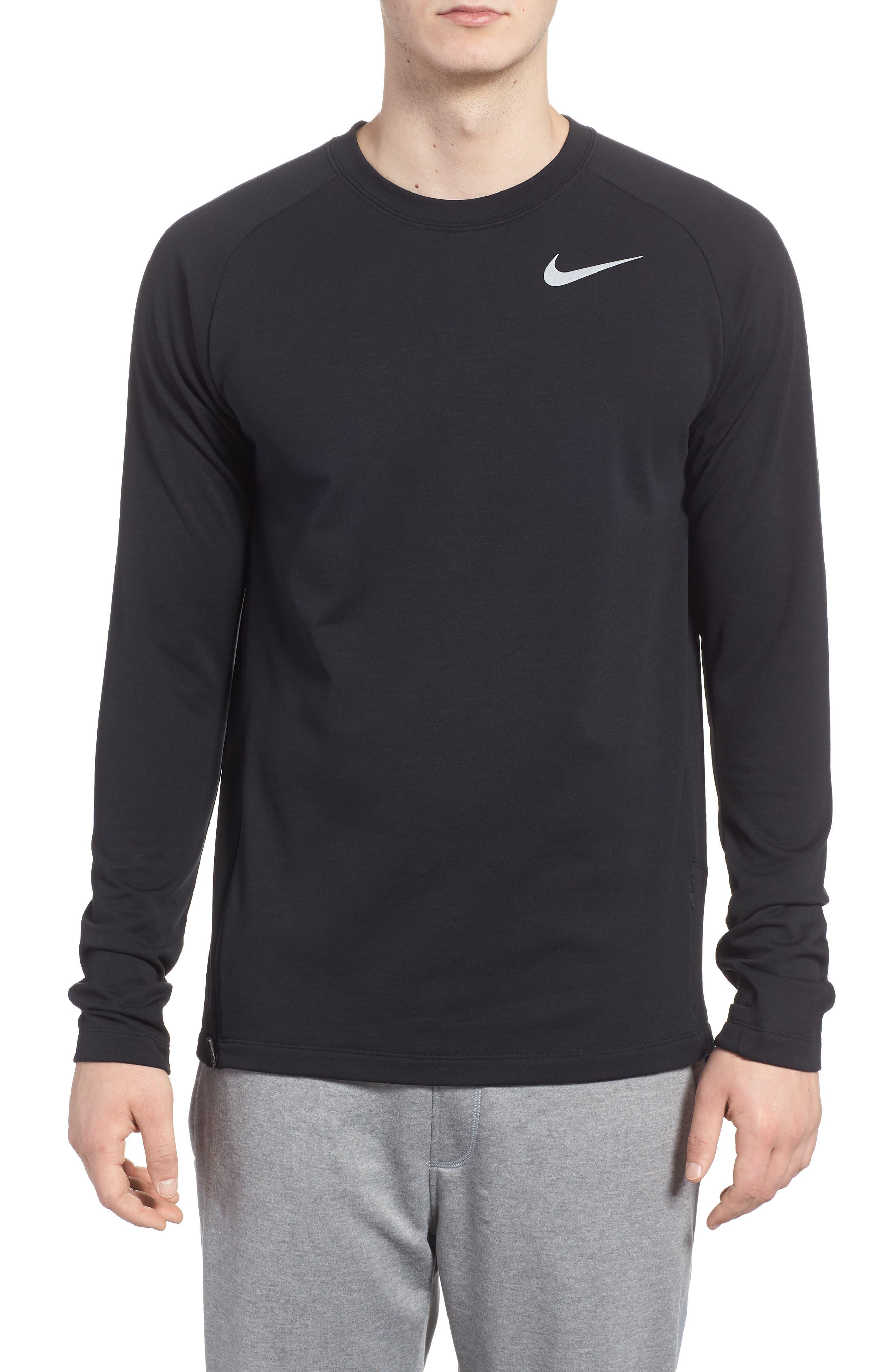Running Element Long Sleeve T-Shirt,                             Main thumbnail 1, color,                             Black